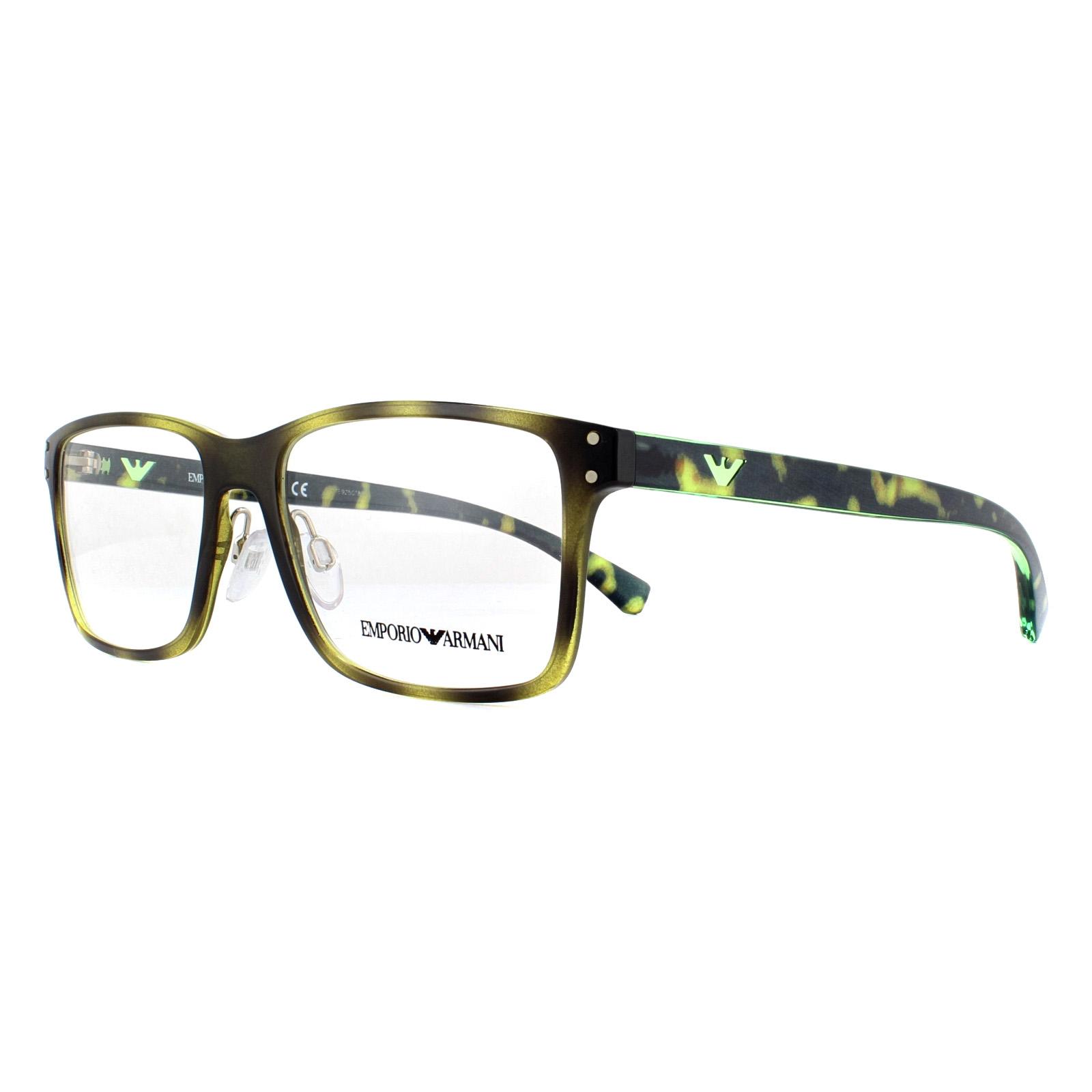2818b3050219 Sentinel Emporio Armani Glasses Frames EA 3114 5026 Havana 53mm Mens
