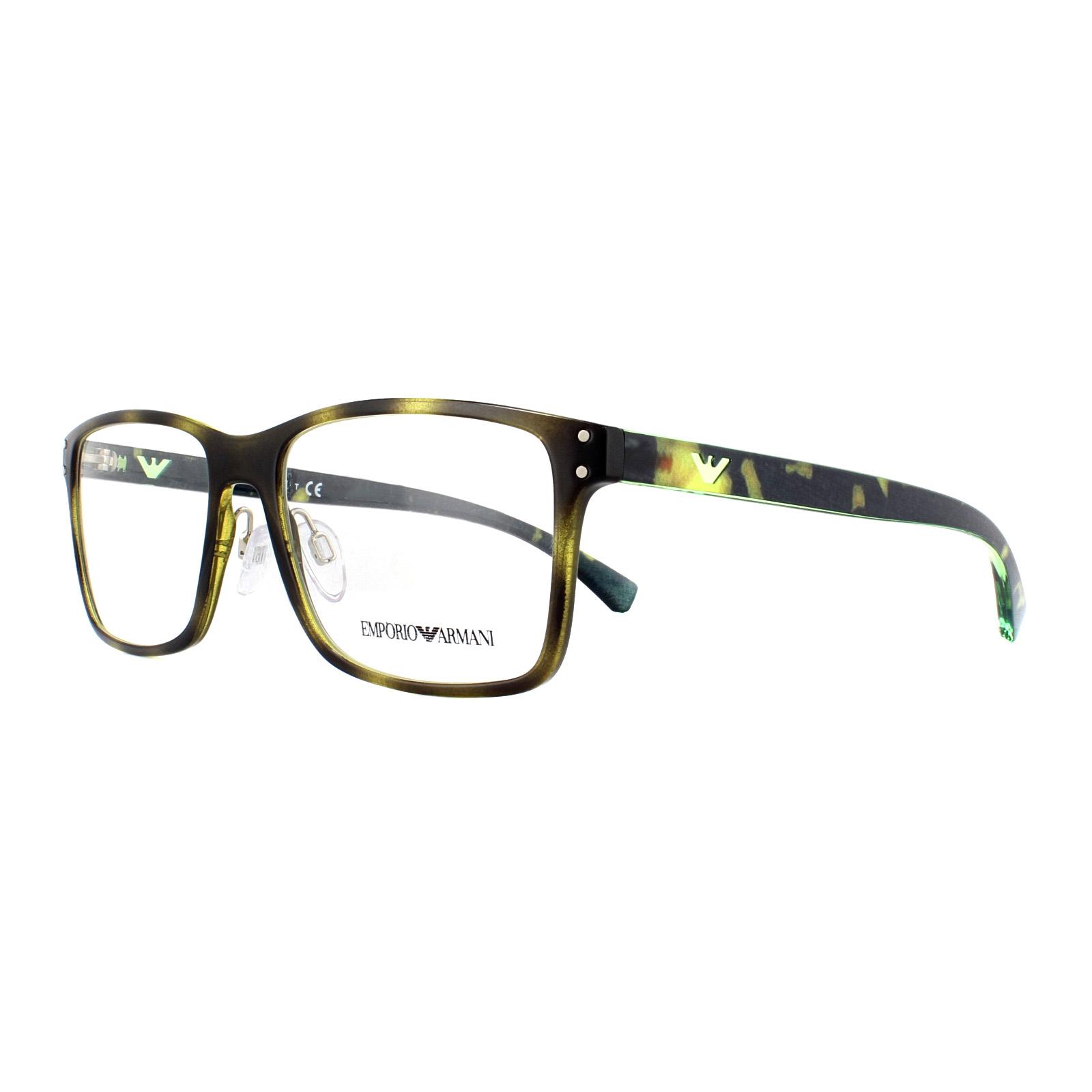 e802f0060d2e Sentinel Emporio Armani Glasses Frames EA 3114 5026 Havana 55mm Mens