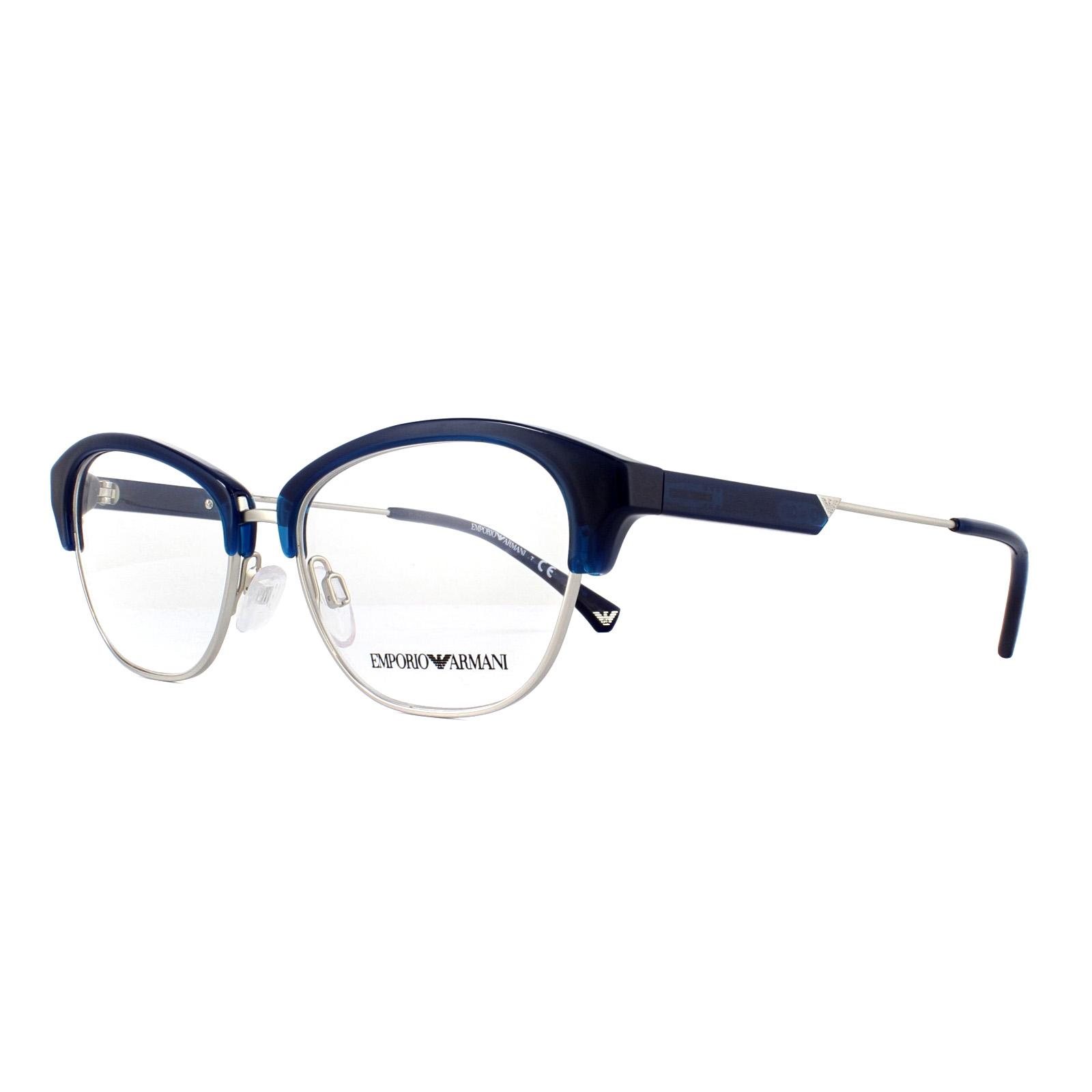 b88a0dbdd580 Sentinel Emporio Armani Glasses Frames EA 3115 5612 Blue and Silver 52mm  Womens