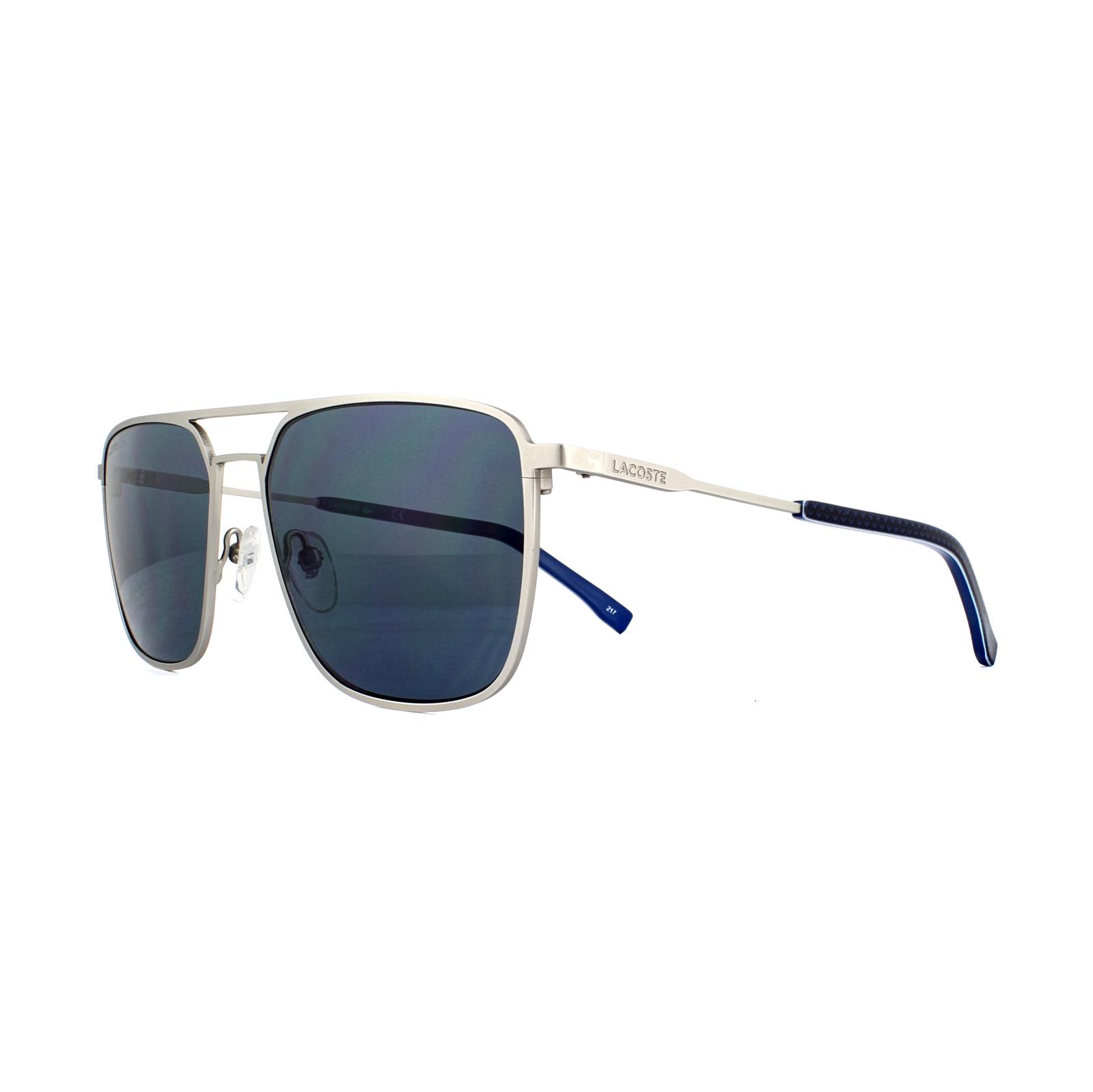 7ae96fc8b2 Sentinel Lacoste Sunglasses L194S 045 Matt Silver Blue