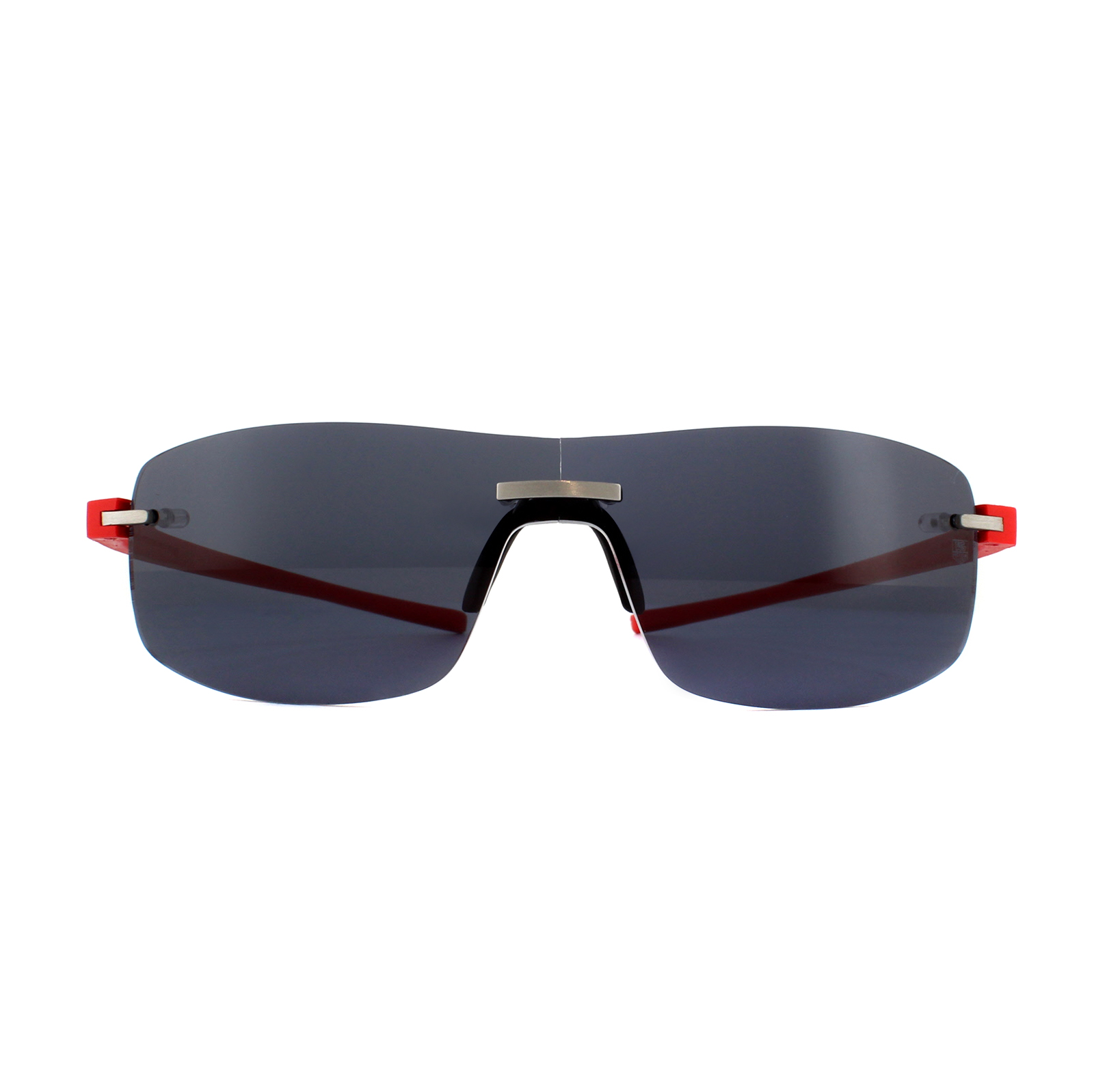 44eef8aed8 CENTINELA Tag Heuer gafas de sol TH3591 Reflex 102 puro rojo gris plata al  aire libre