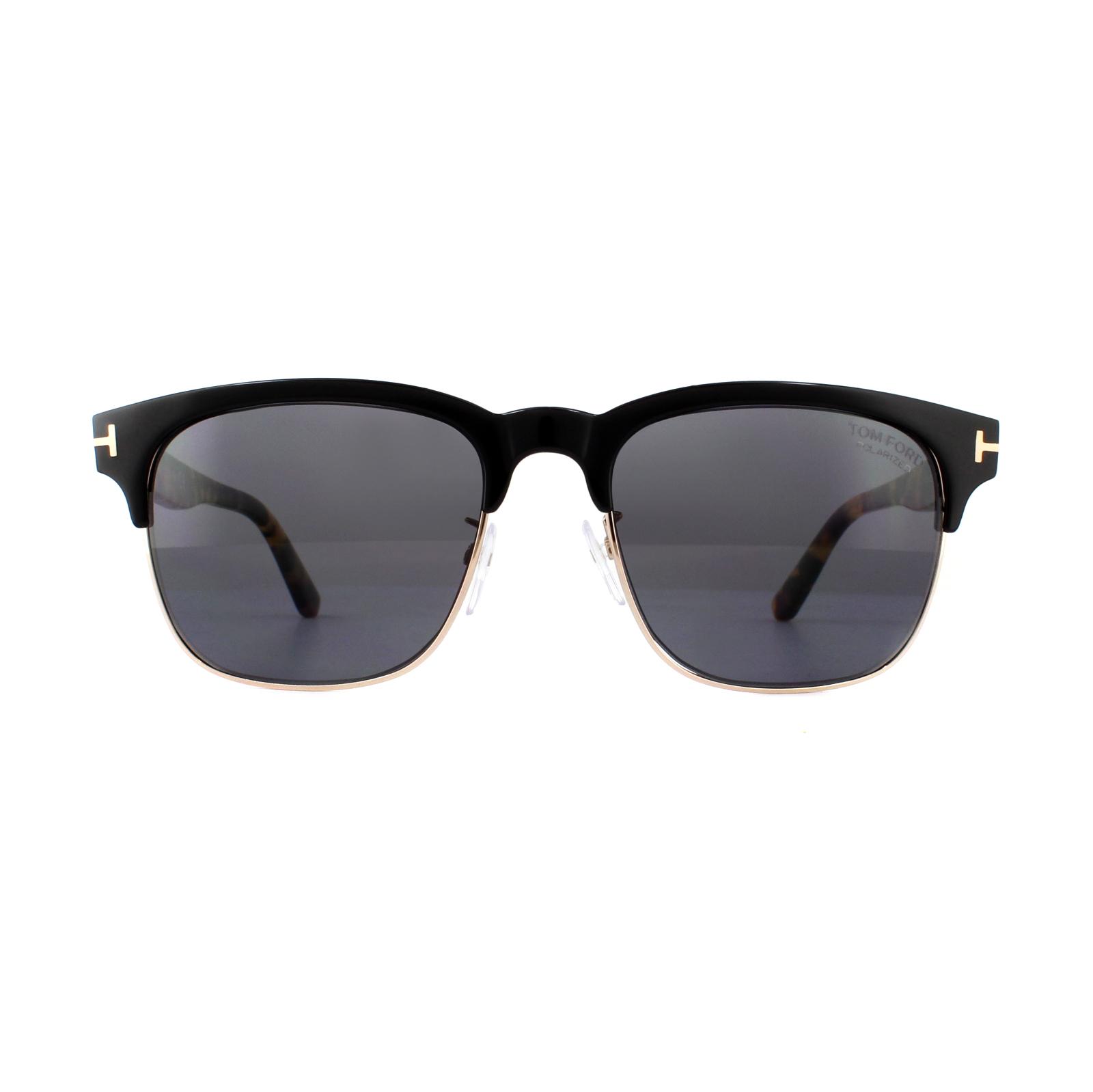 1545e8379d9 Sentinel Tom Ford Sunglasses Louis FT0386 01D Black   Havana Grey Polarized