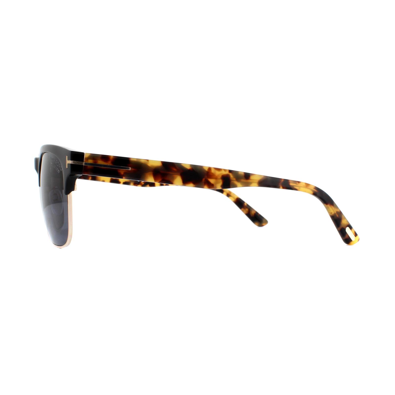 522eca2b3f7 Sentinel Tom Ford Sunglasses Louis FT0386 01D Black   Havana Grey Polarized