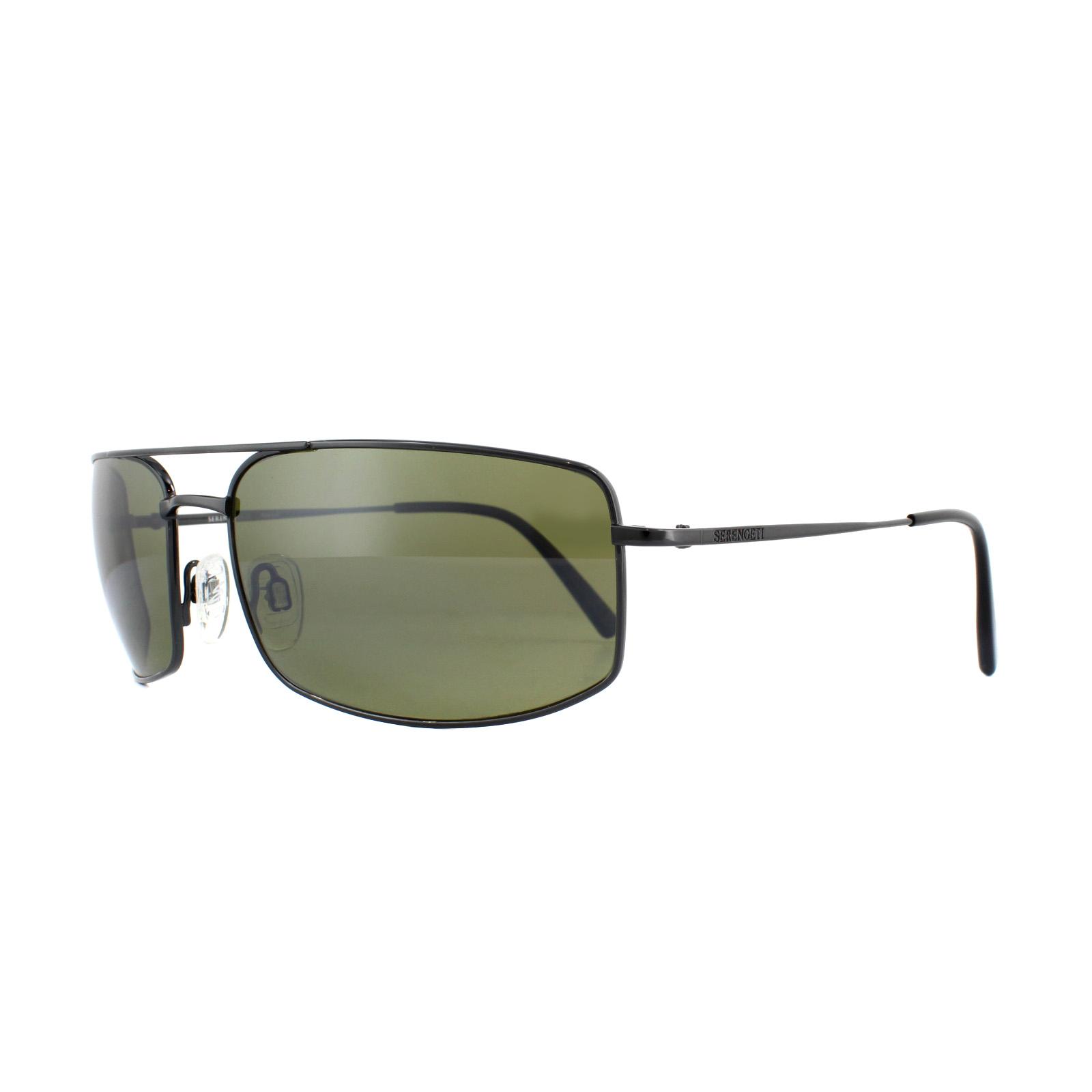 0be2e878ce7 Sentinel Serengeti Sunglasses Treviso 8303 Shiny Dark Gunmetal 555nm Green  Polarized