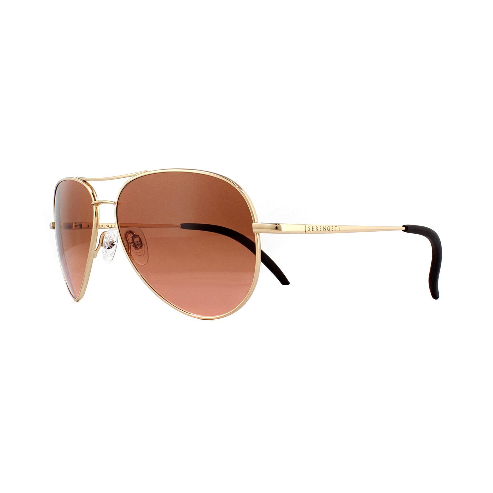 11c0beba90 Sentinel Serengeti Sunglasses Carrara Small 8550 Shiny Gold Drivers Brown  Gradient