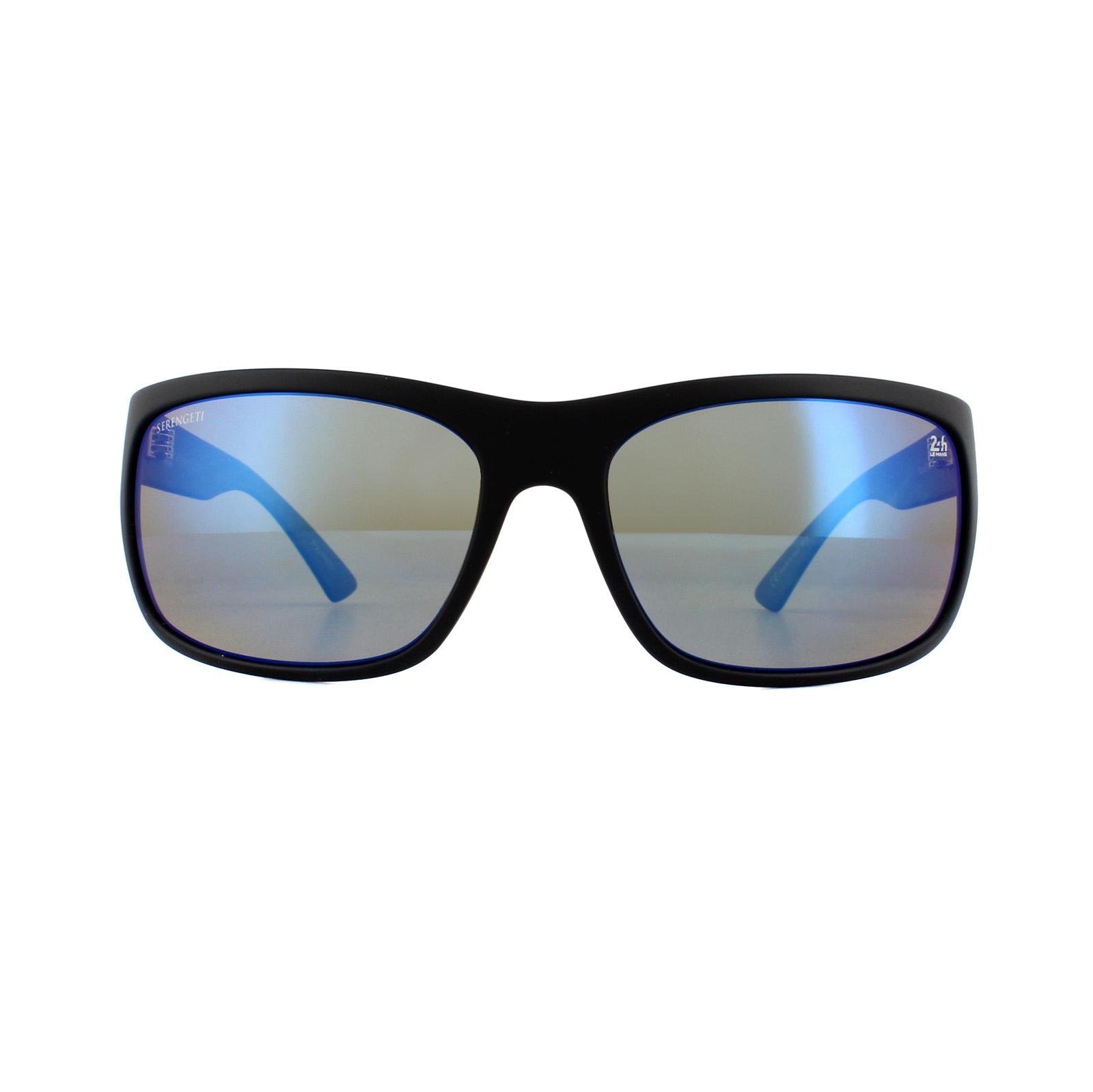 d2b1b78313 Sentinel Serengeti Sunglasses Pistoia 8743 Satin Black Dark Blue 555nm Blue  Polarized. Sentinel Thumbnail 2