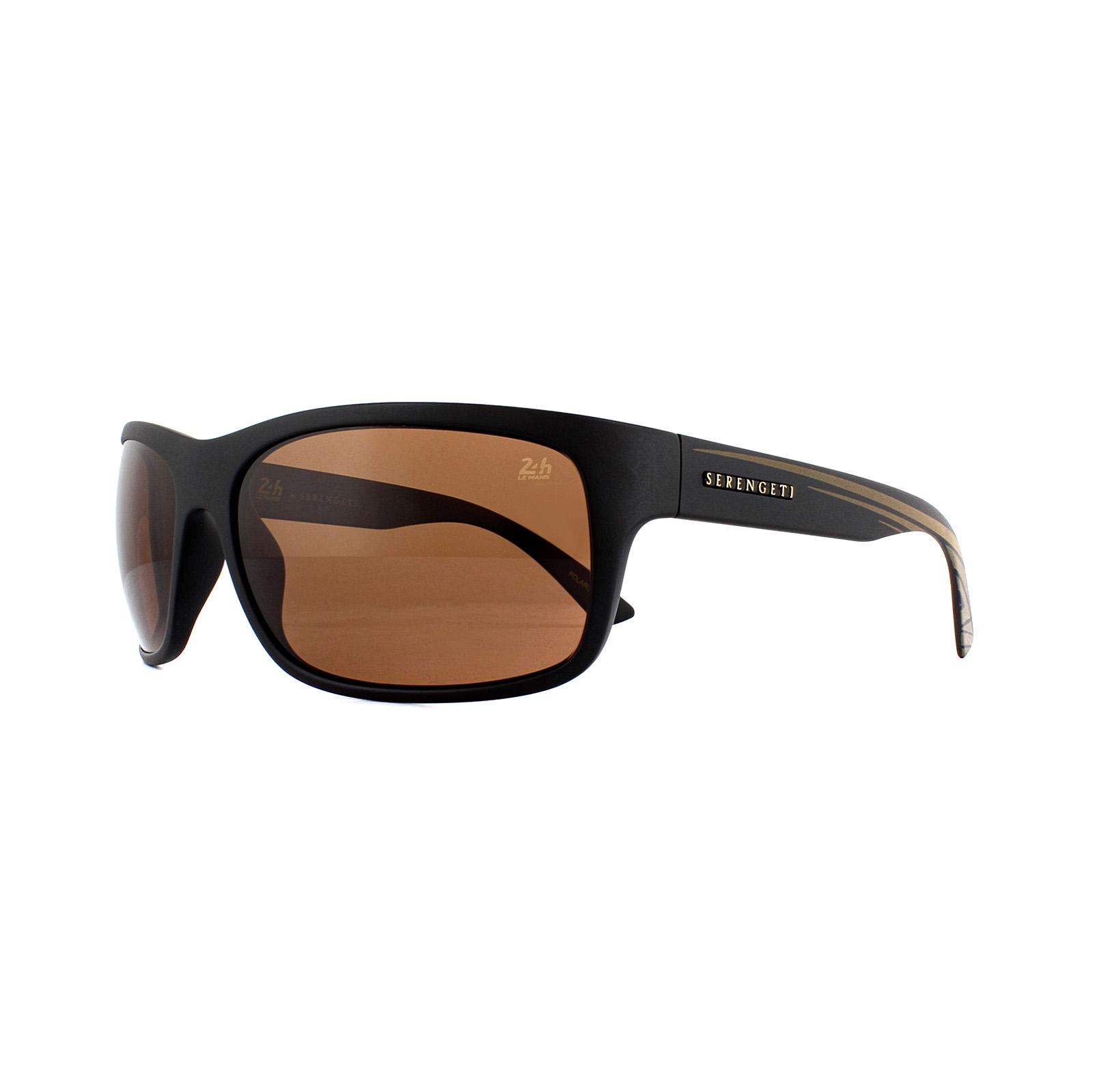 52c4cec489 CENTINELA Serengeti gafas de sol Pistoia 8744 oro negro satinado  conductores marrón polarizado