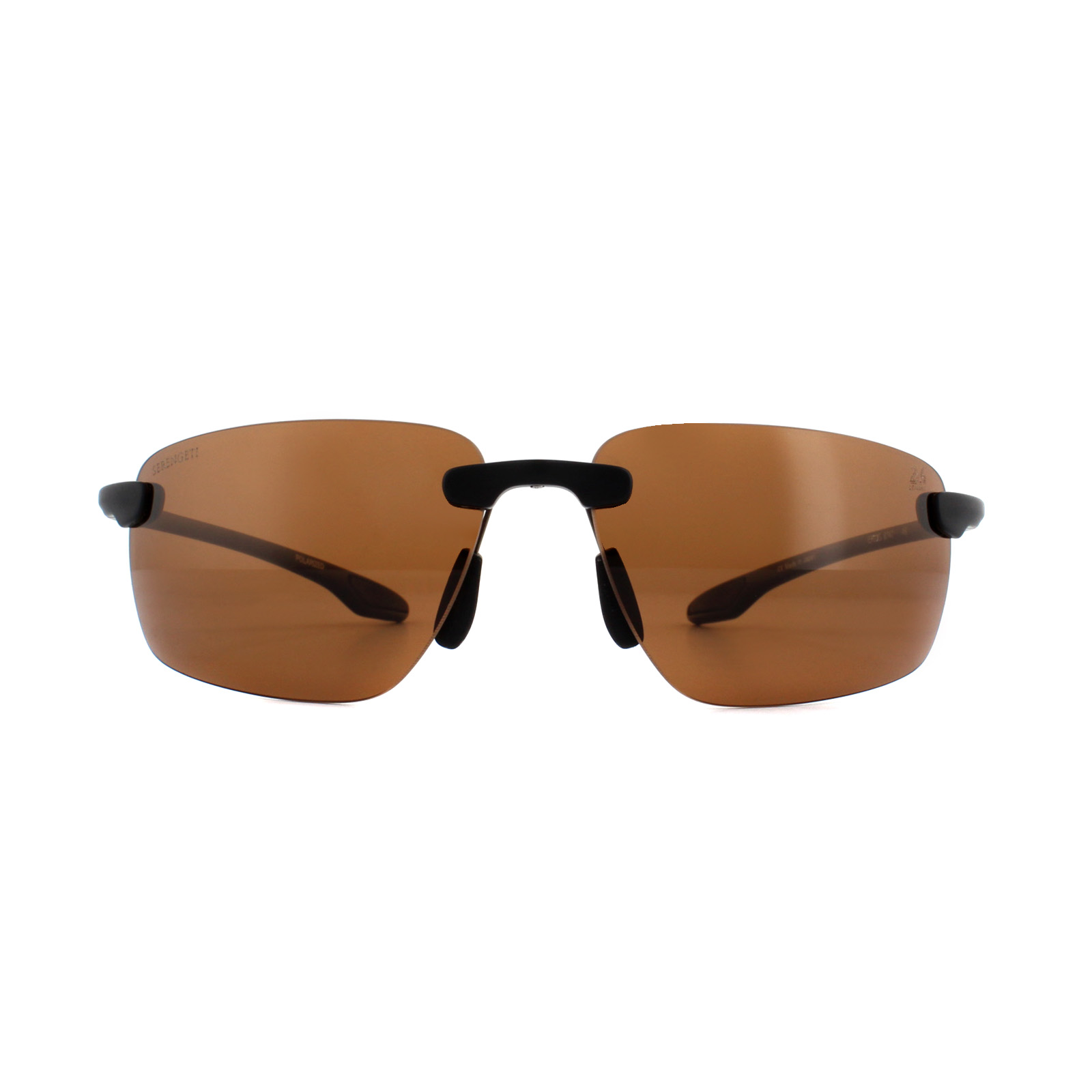 5c8c75970e Sentinel Serengeti Sunglasses Erice 8747 Satin Black Gold PhD Drivers Brown  Polarized