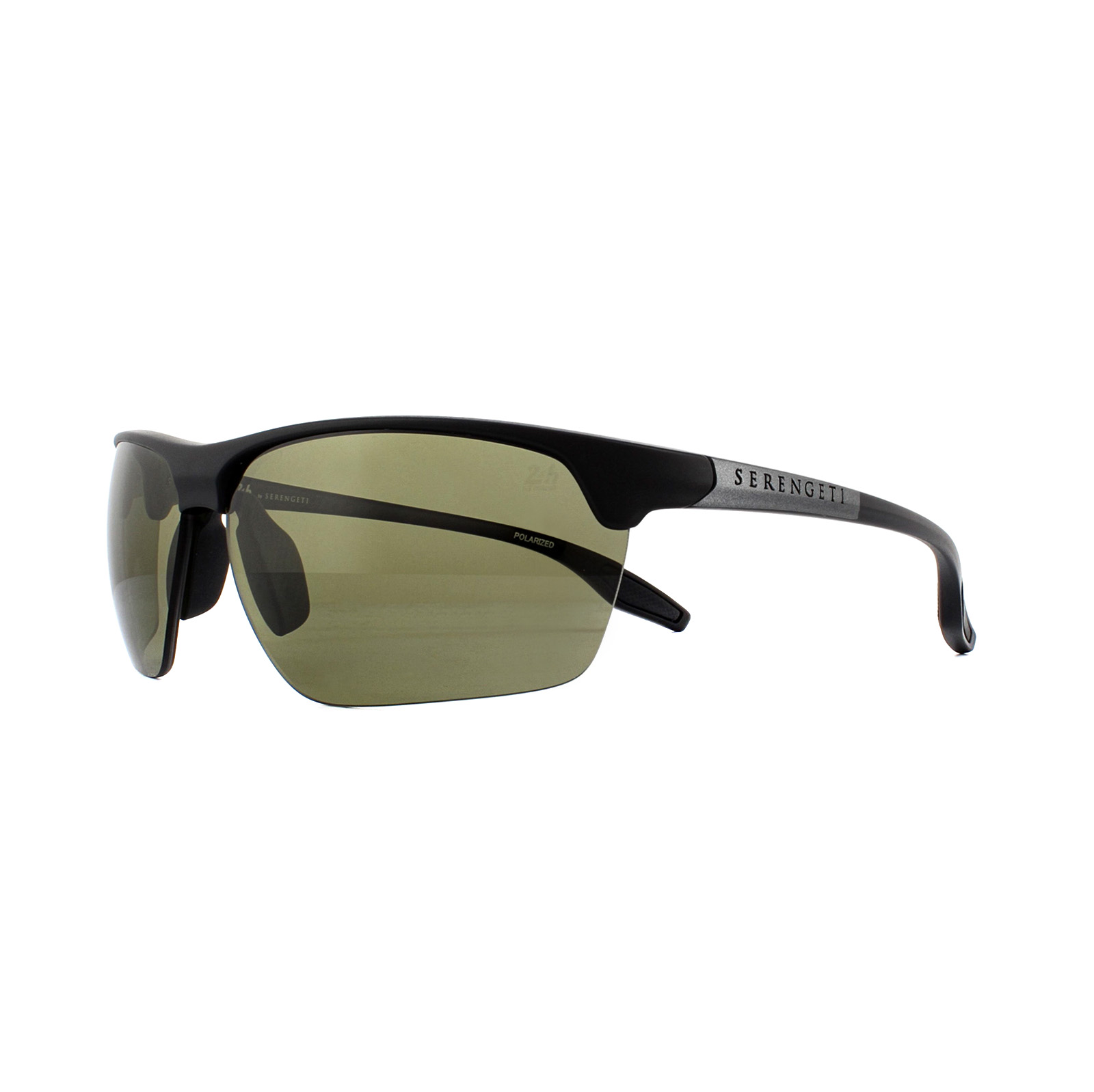 ad7a4cdbb1 Sentinel Serengeti Sunglasses Linosa 8748 Satin Black Gunmetal PhD 555nm  Green Polarized