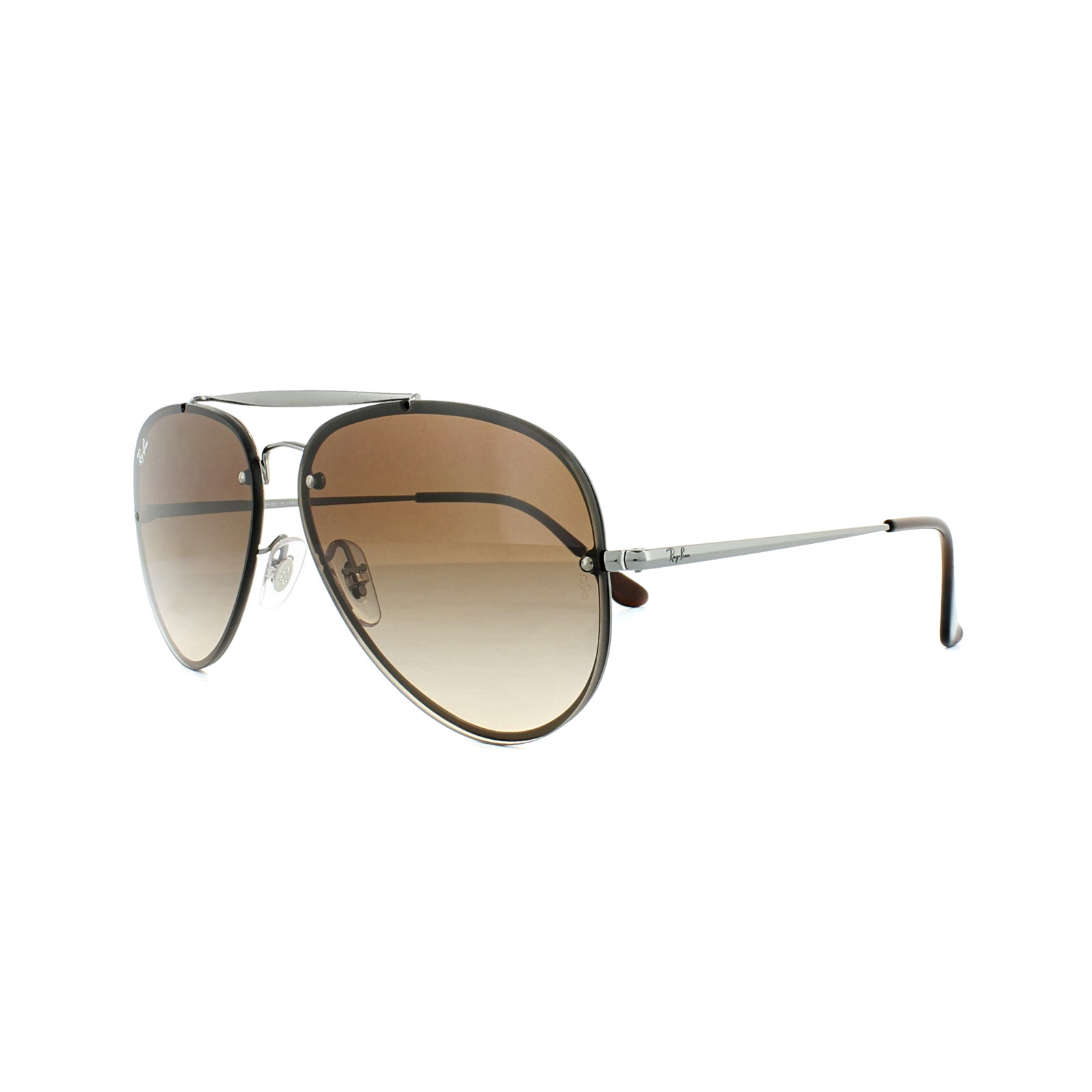 f91e21d1ee Details about Ray-Ban Sunglasses Blaze Aviator RB3584N 004 13 Gunmetal  Brown Gradient 58mm