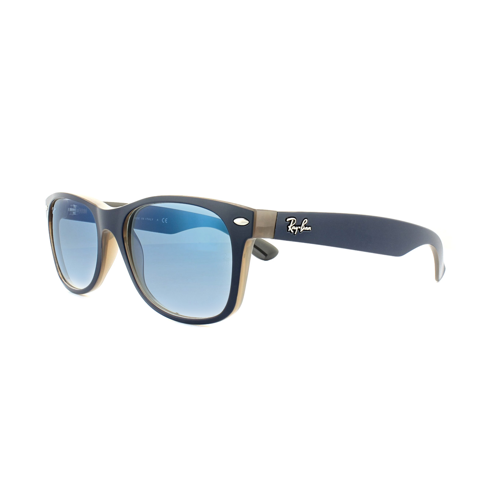 e96dad617ea Ray-Ban Sunglasses New Wayfarer 2132 63083F Matte Blue on Opal Brown ...