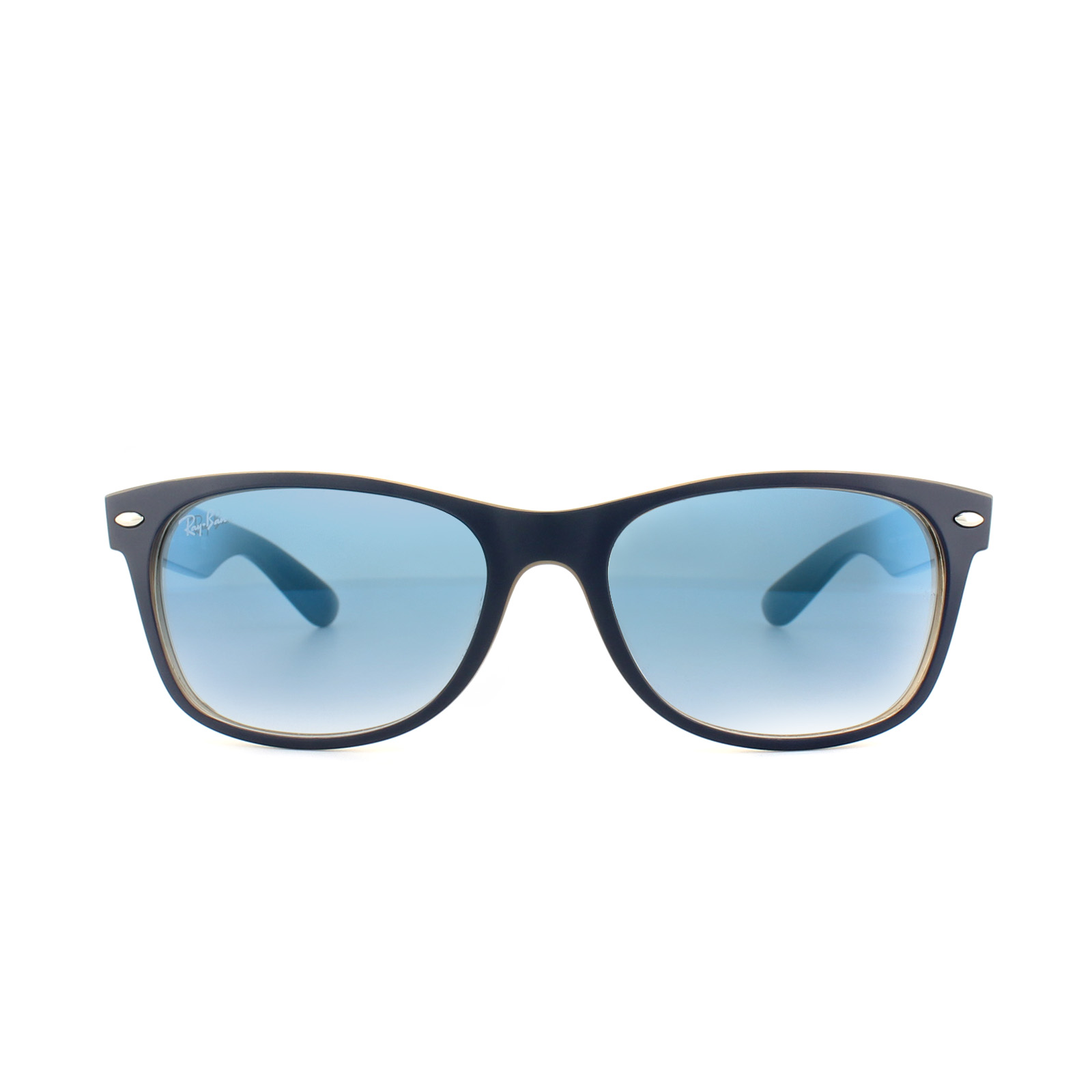 c735142f44 Sentinel Ray-Ban Sunglasses New Wayfarer 2132 63083F Matte Blue on Opal  Brown Blue Gradie