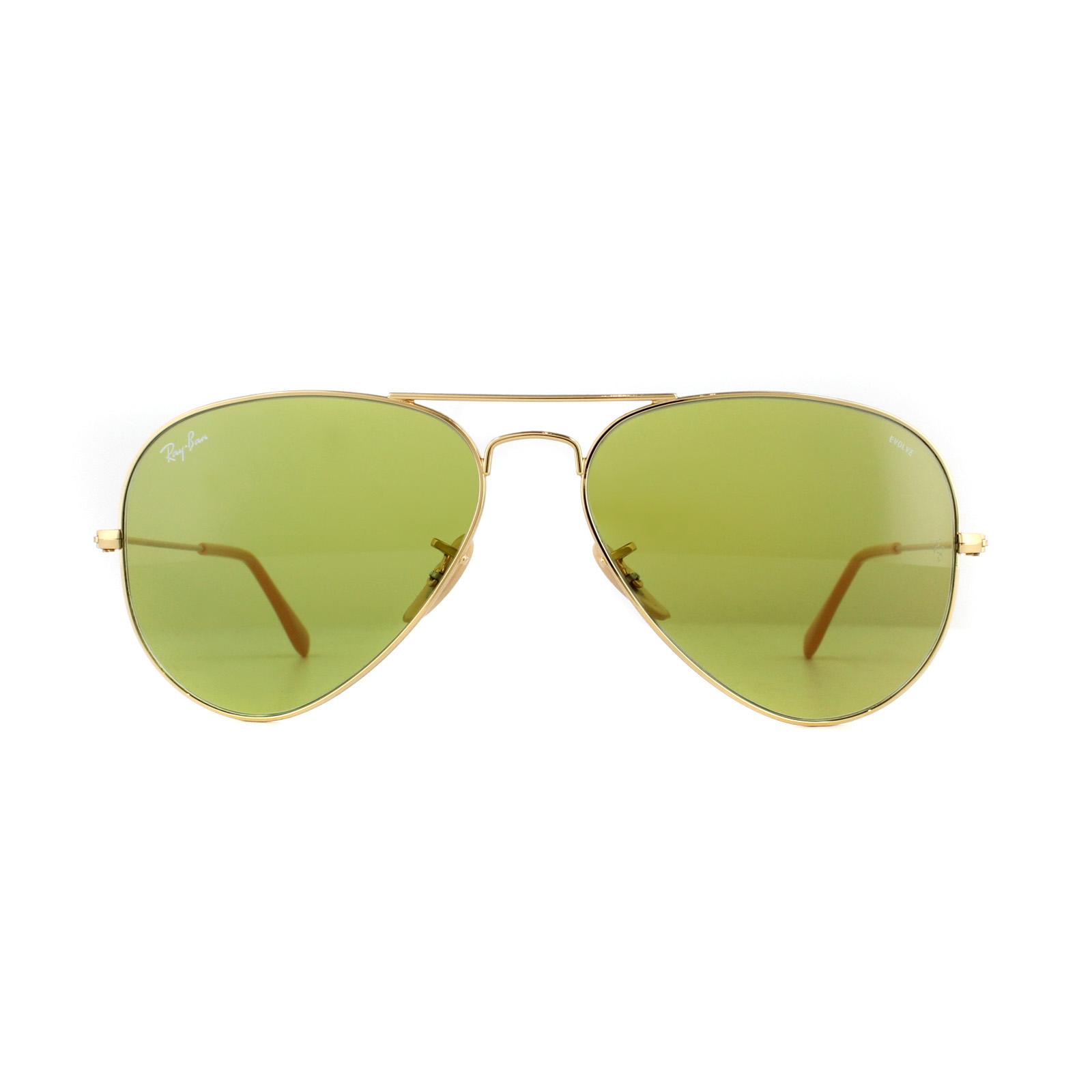 8e9902693 CENTINELA Gafas de sol de Ray-Ban aviador 3025 90644 oro verde Photocromic
