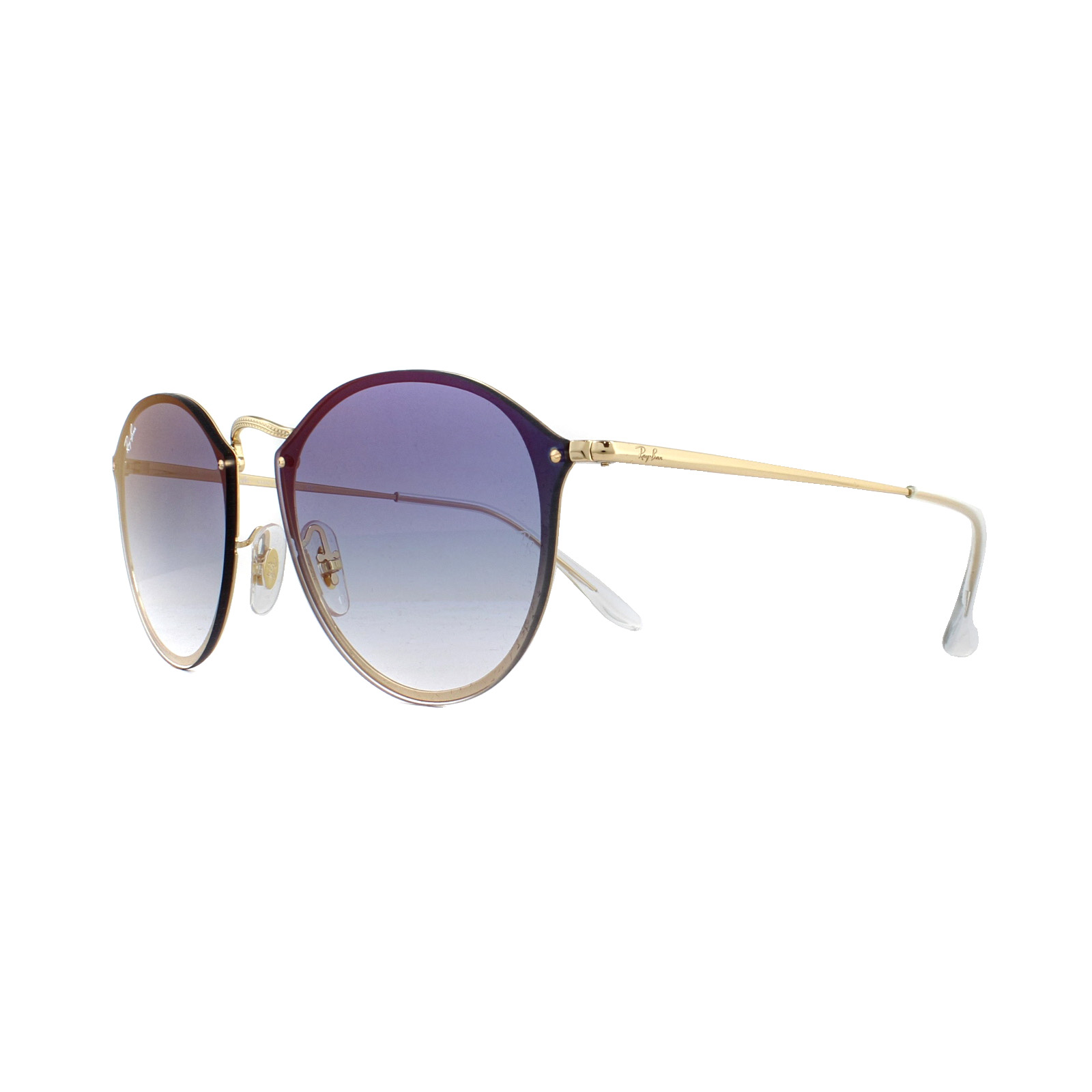 7efd7e8a26c Sentinel Ray-Ban Sunglasses Blaze Round RB3574N 001 X0 Gold Blue Gradient  Red Mirrored