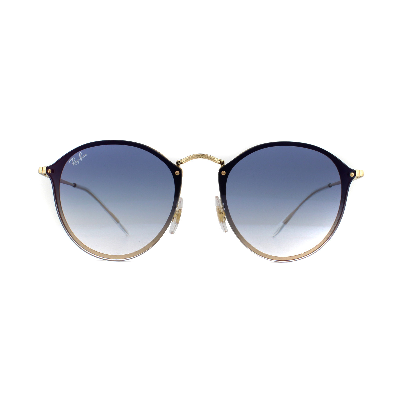 08bccca4f8423 Sentinel Ray-Ban Sunglasses Blaze Round RB3574N 001 X0 Gold Blue Gradient  Red Mirrored