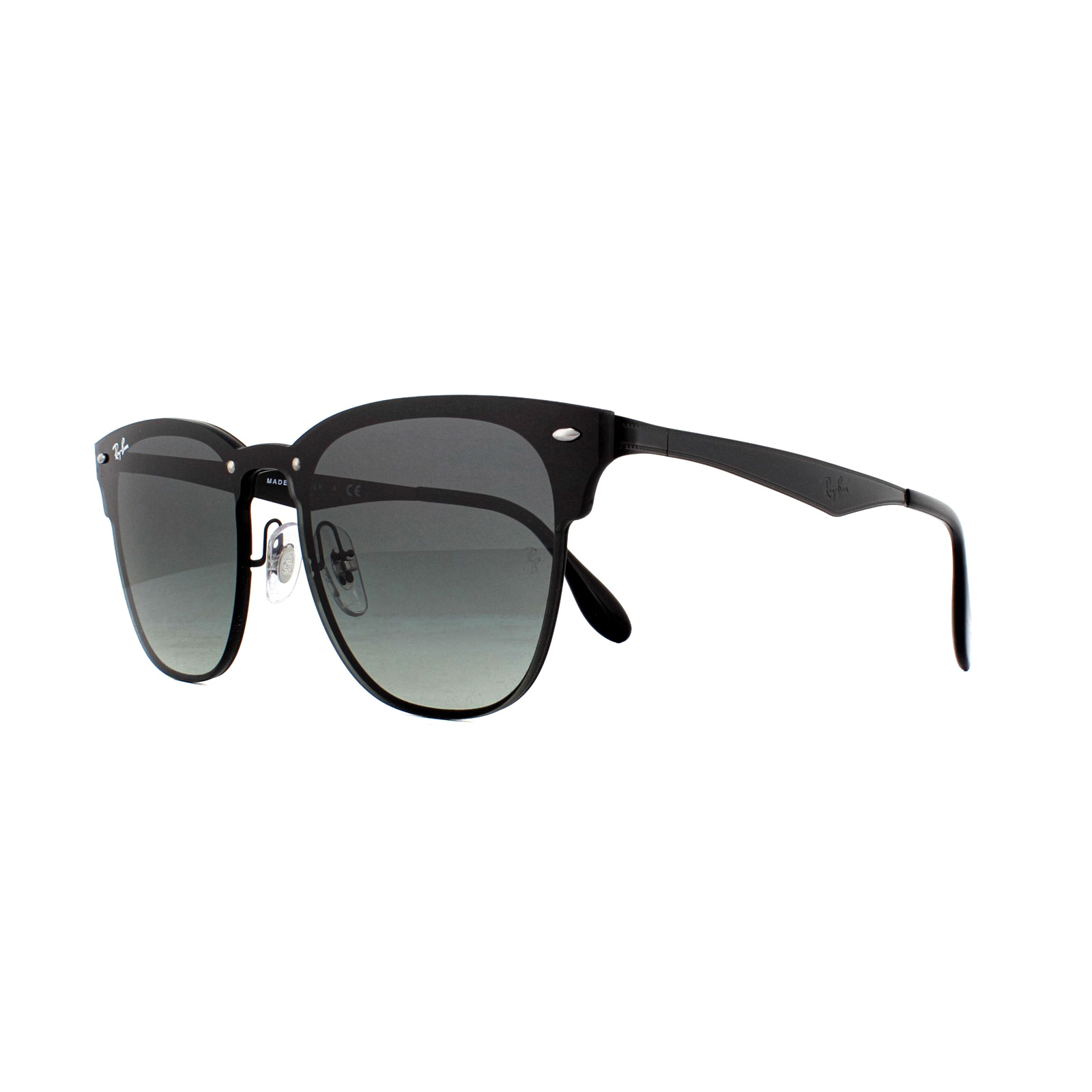 ddbf776e02 Details about Ray-Ban Sunglasses Blaze Clubmaster 3576N 153 11 Demi Gloss  Black Gradient Grey