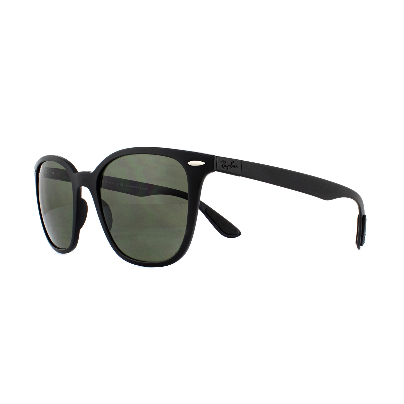 85b4d42b5c4b Sentinel Ray-Ban Sunglasses RB4297 601S9A Matte Black Green Polarized