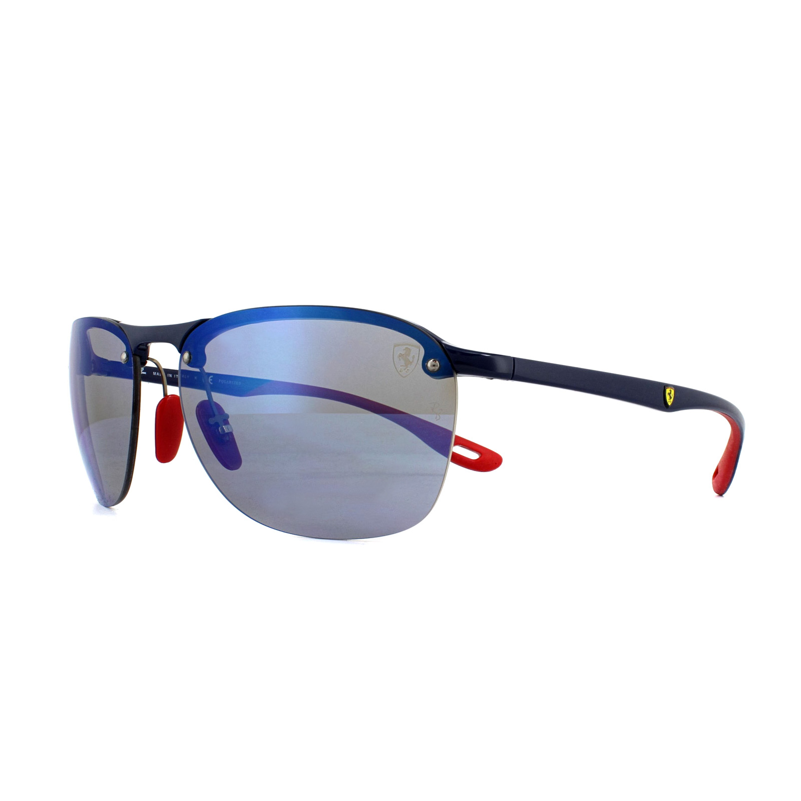 3724043fe0 Sentinel Ray-Ban Sunglasses Scuderia Ferrari RB4302M F606H0 Blue Red  Polarized Blue Mirro