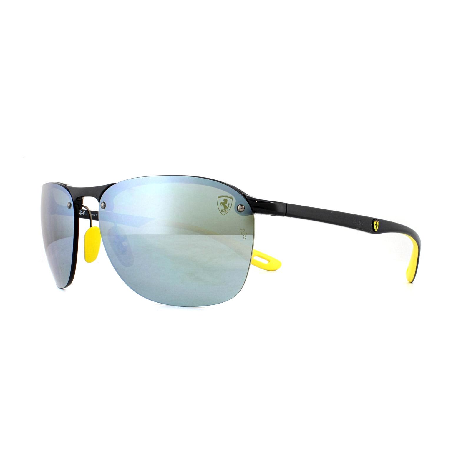 971fcf2932 Sentinel Ray-Ban Sunglasses Scuderia Ferrari RB4302M F624H1 Grey Silver  Mirror Chromance