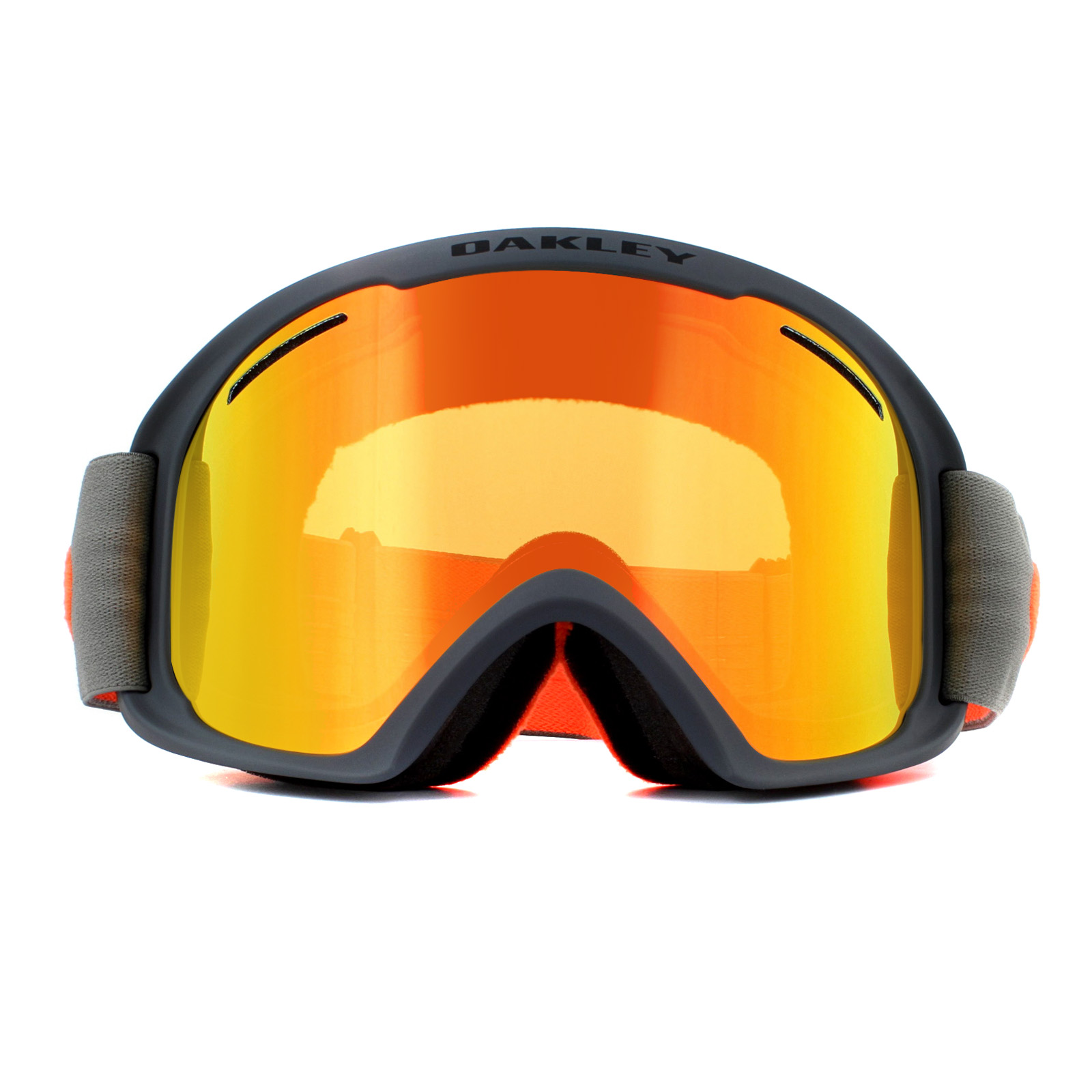 7fbcae483c780 Oakley Ski Goggles O2 XL OO7045-42 Forged Iron Brush Fire Iridium ...