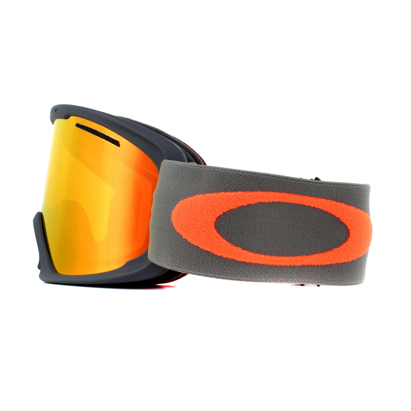 785bb7bfd2 Sentinel Oakley Ski Goggles O2 XL OO7045-42 Forged Iron Brush Fire Iridium
