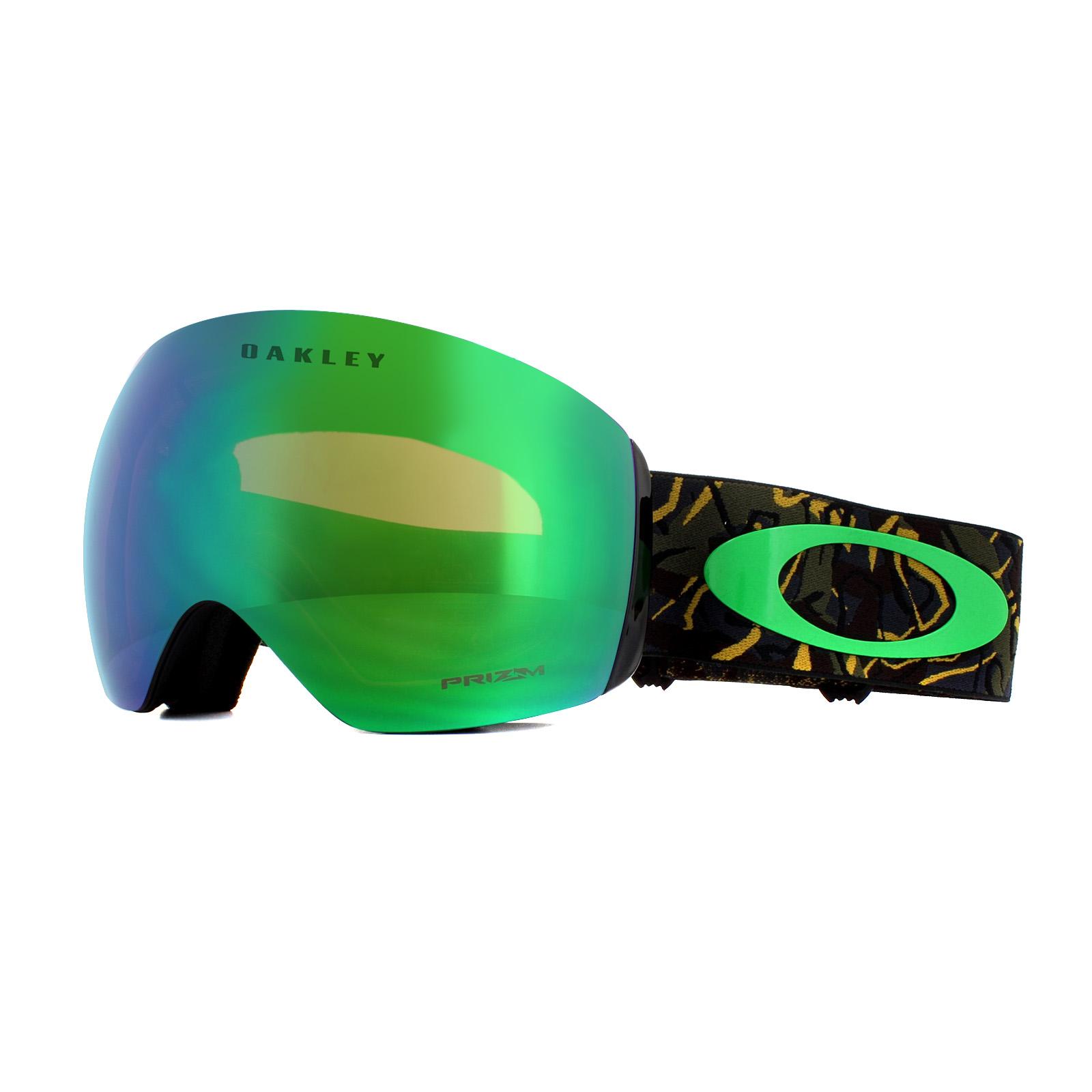 2073d6aba9ae Sentinel Oakley Ski Goggles Flight Deck OO7050-64 Camo Vine Jungle Prizm  Jade Iridium