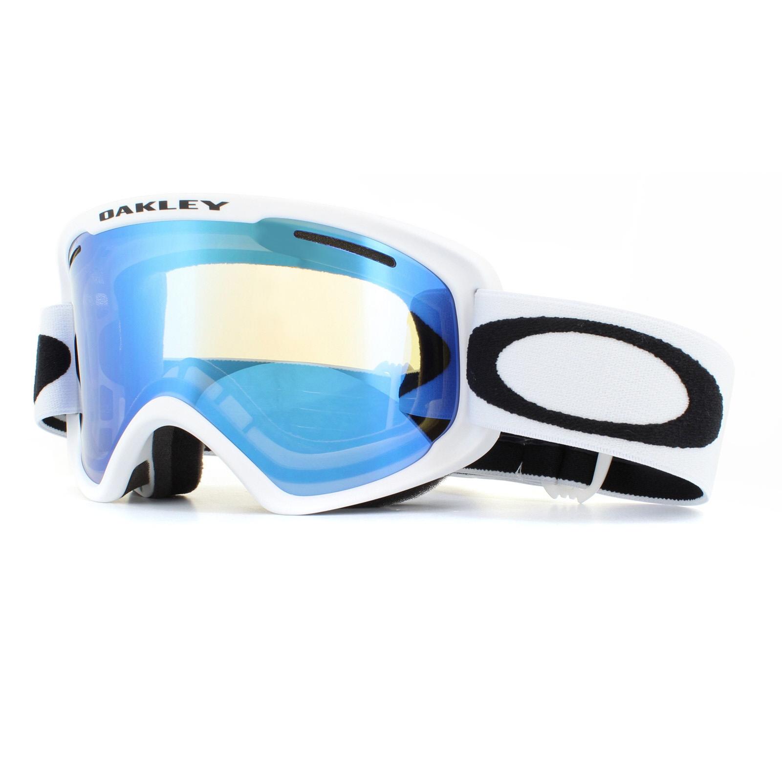 5b4860e329 Sentinel Oakley Ski Goggles O2 XM OO7066-55 Matte White Violet Iridium