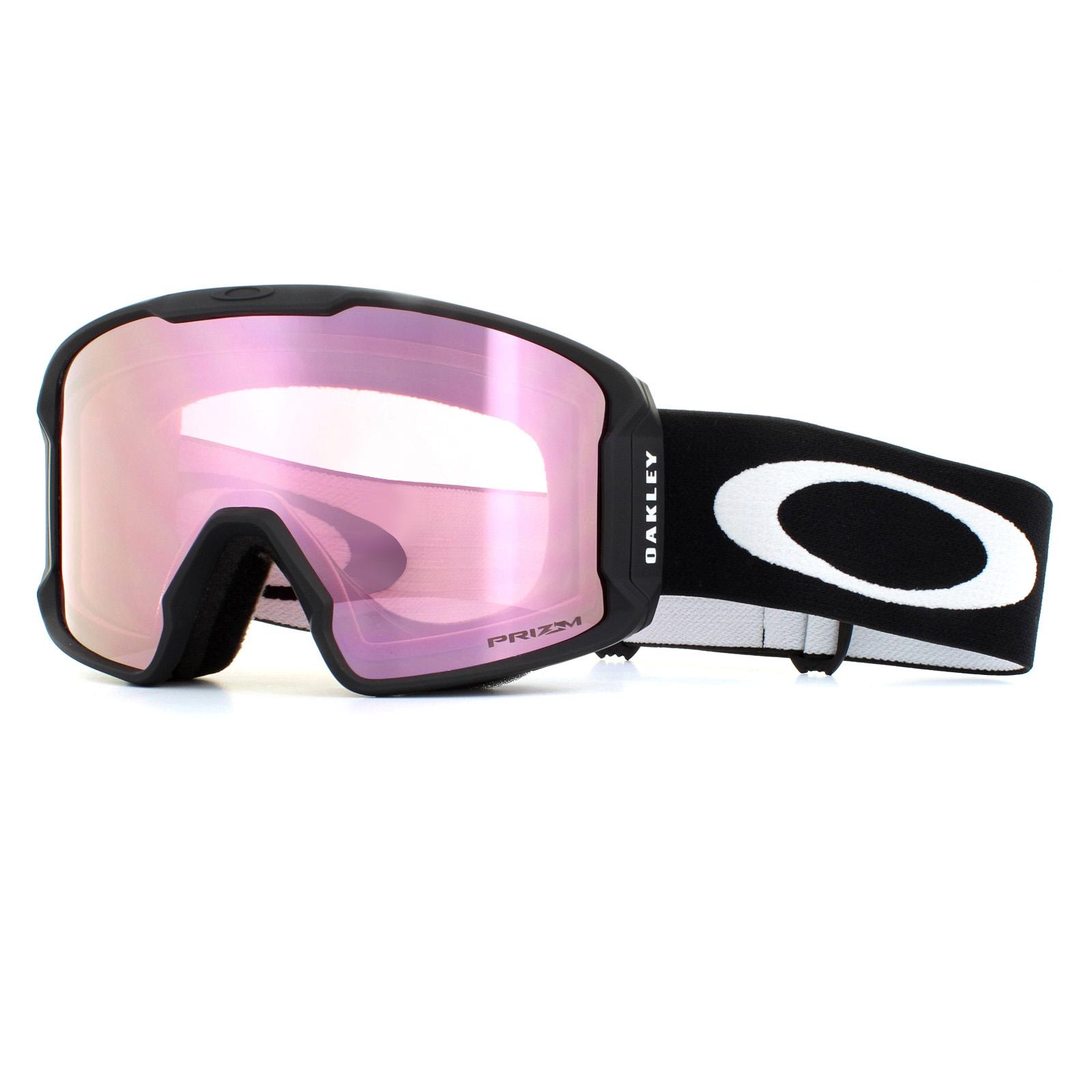 761e757c1b63 Sentinel Oakley Ski Goggles Line Miner OO7070-06 Matte Black Prizm Hi Pink  Iridium