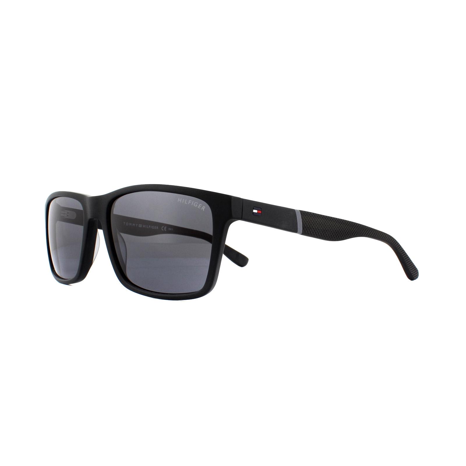 1713fad20fb5e Sentinel Tommy Hilfiger Sunglasses TH 1405 S KUN P9 Black Matte Black Grey