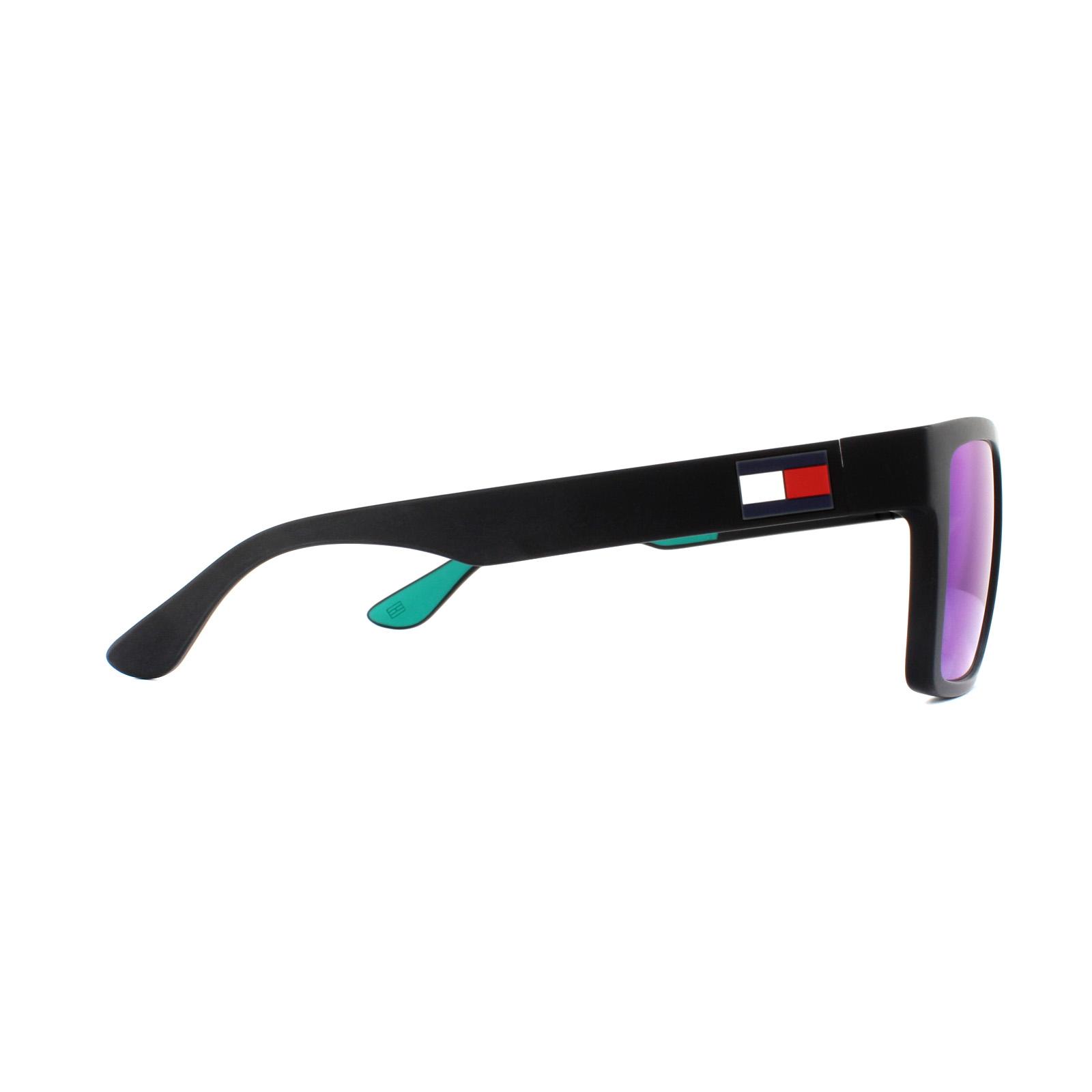 bc6df6690a Sentinel Tommy Hilfiger Sunglasses TH 1605 S 3OL Z9 Black Green Mirror