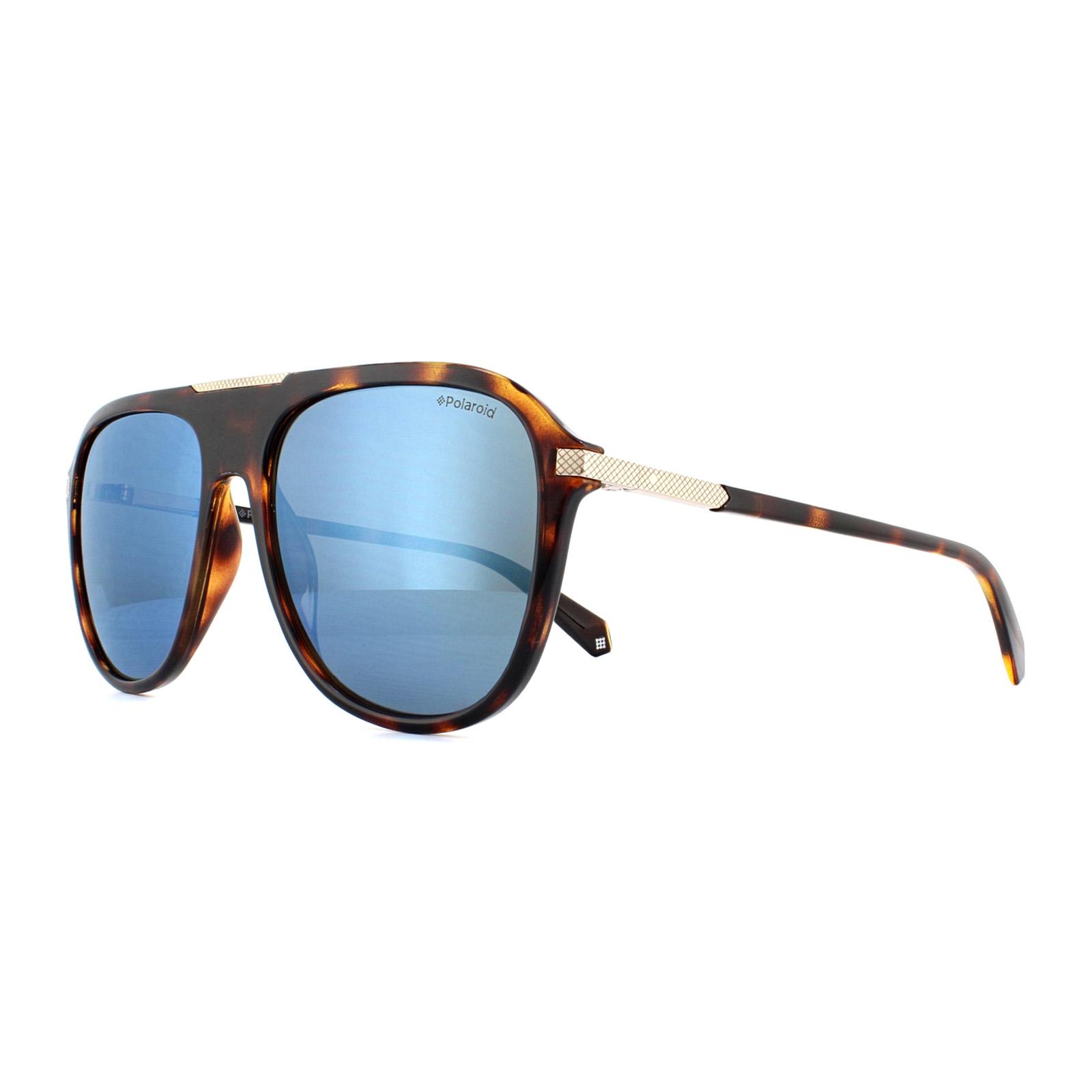 5be3be0247d Sentinel Polaroid Sunglasses PLD 2070 S X 086 5X Dark Havana Grey Blue  Mirror Polarized