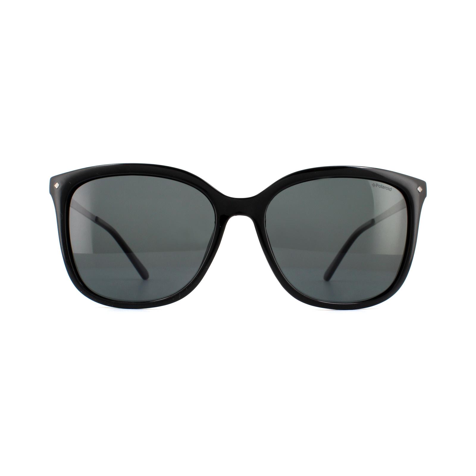 9e772ef7da1 Sentinel Polaroid Sunglasses PLD 4043 S CVS Y2 Black Grey Polarized