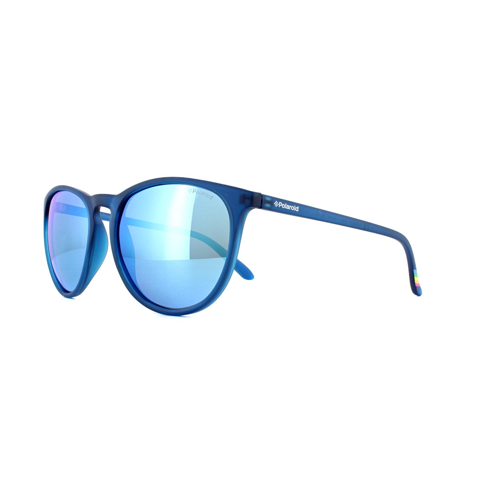 47dacaa1e8b Sentinel Polaroid Sunglasses PLD 6003 N UJO JY Blue Blue Mirror Polarized