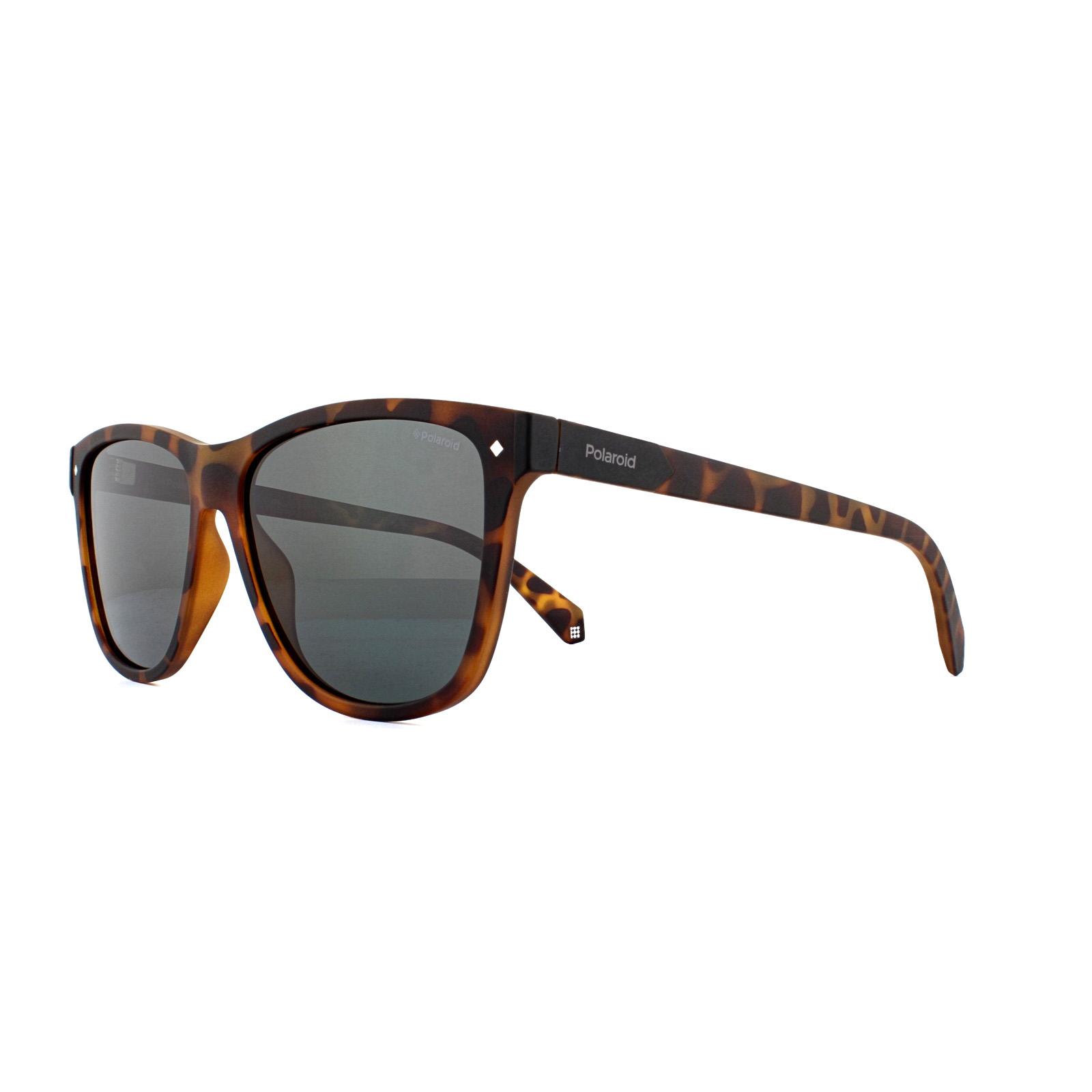 c11caa37b91 Sentinel Polaroid Sunglasses PLD 6035 S N9P M9 Matte Havana Grey Polarized