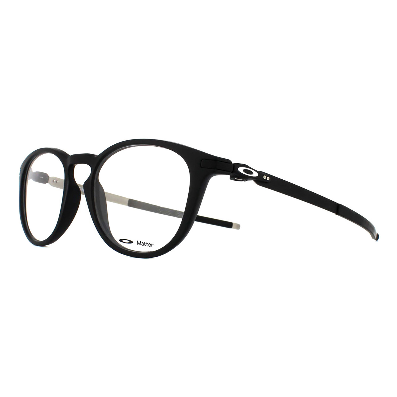 0f1f281158 Sentinel Oakley Glasses Frames Pitchman R OX8105-01 Satin Black on Matte  Silver 50mm