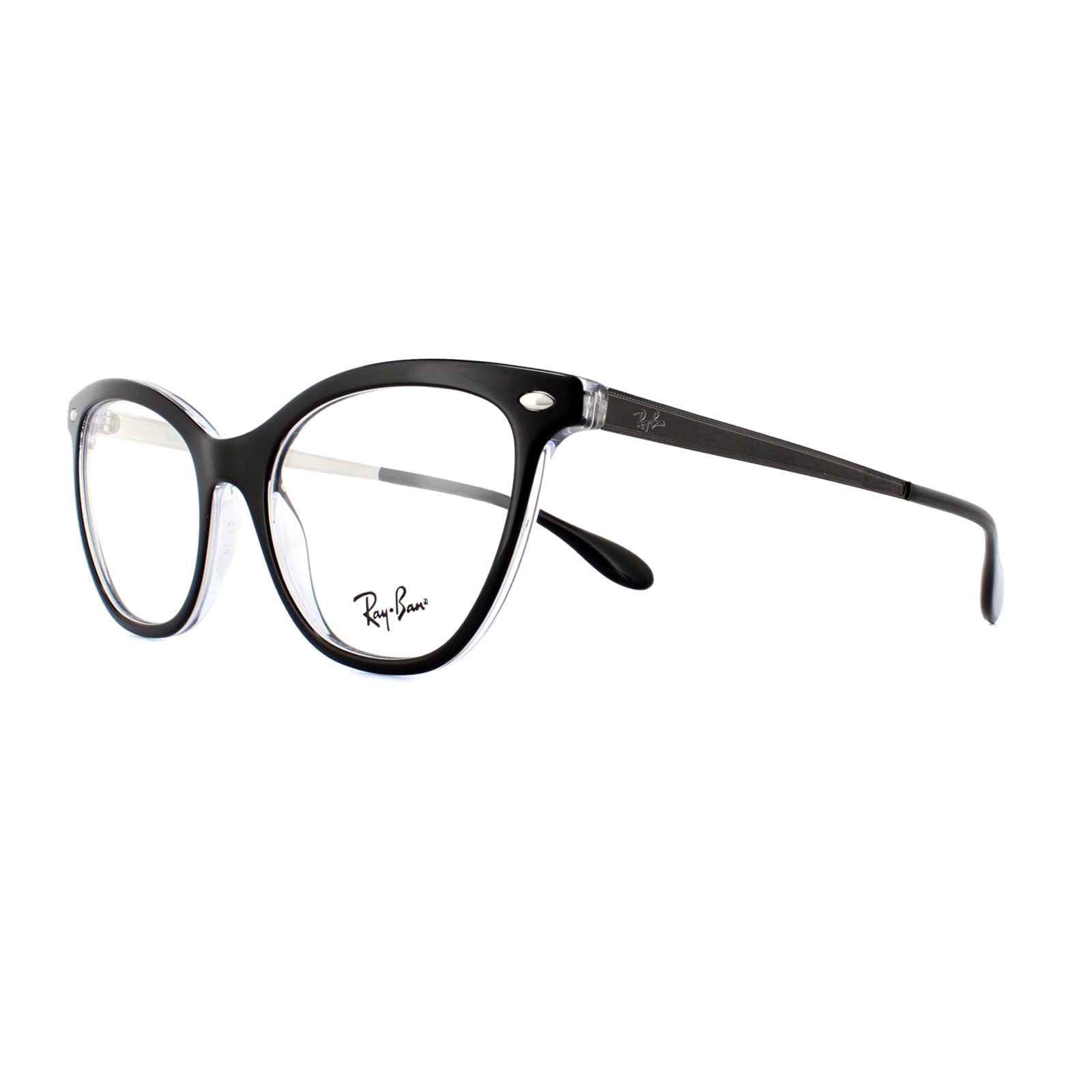 bf9acedb1f795 Sentinel Ray-Ban Glasses Frames 5360 2034 Top Black On Transparrent 52mm