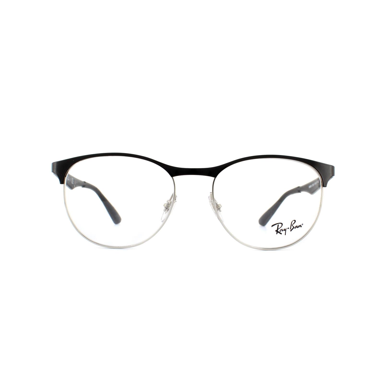 9e025b446f0 Ray-Ban Glasses Frames 6365 2861 BlackSilver 51mm 8053672602678
