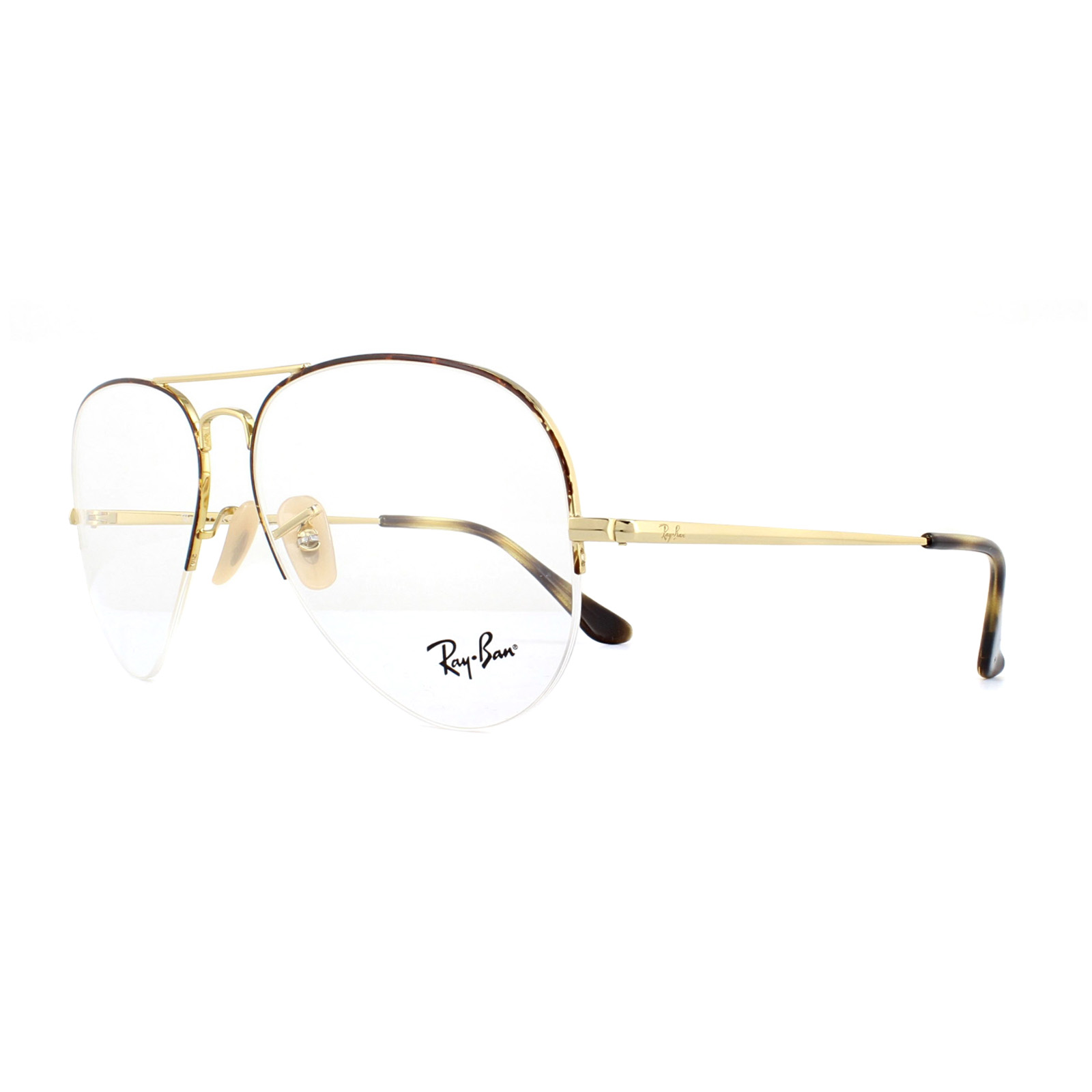3db8953a7f Ray-Ban Glasses Frames 6589 2945 Gold on Havana 59mm 8053672864113 ...