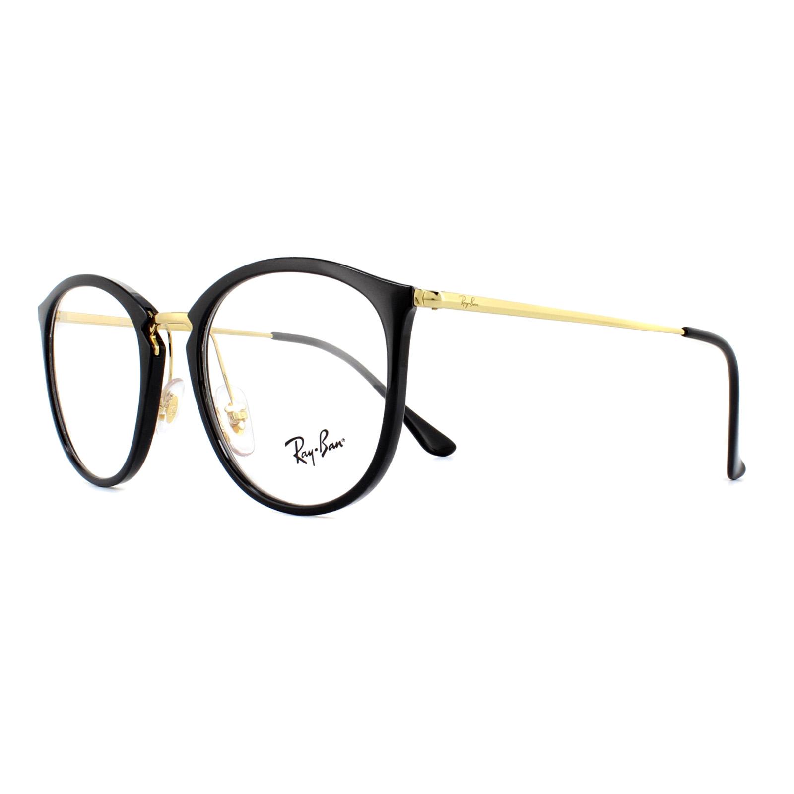 6662836620 Ray-Ban Glasses Frames 7140 2000 Shiny Black 51mm 8053672822564