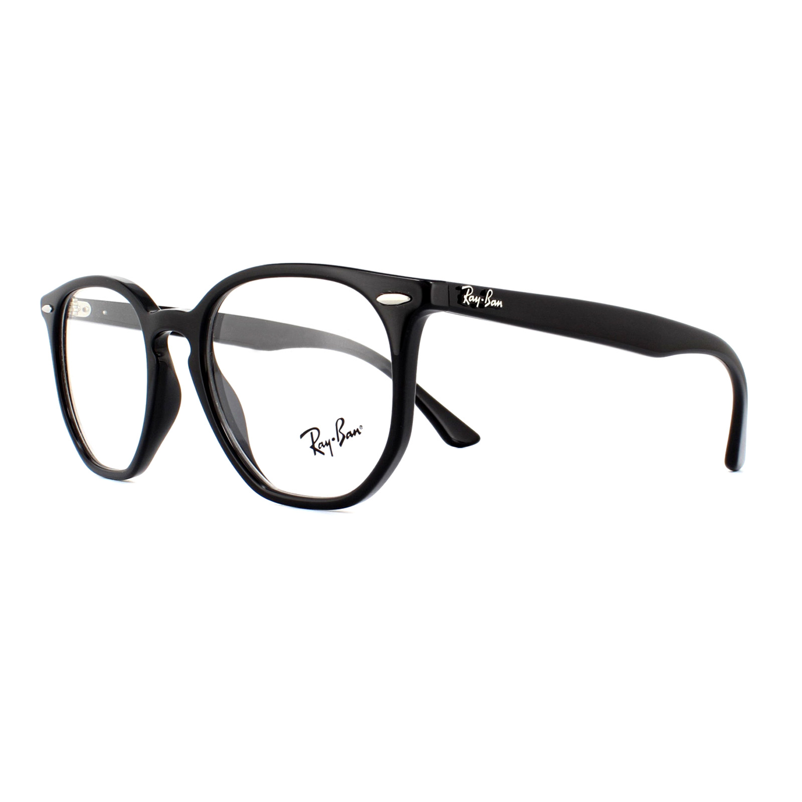 1adbcbd5fb Ray-Ban Glasses Frames 7151 Hexagonal 2000 Black 50mm 8053672915259 ...