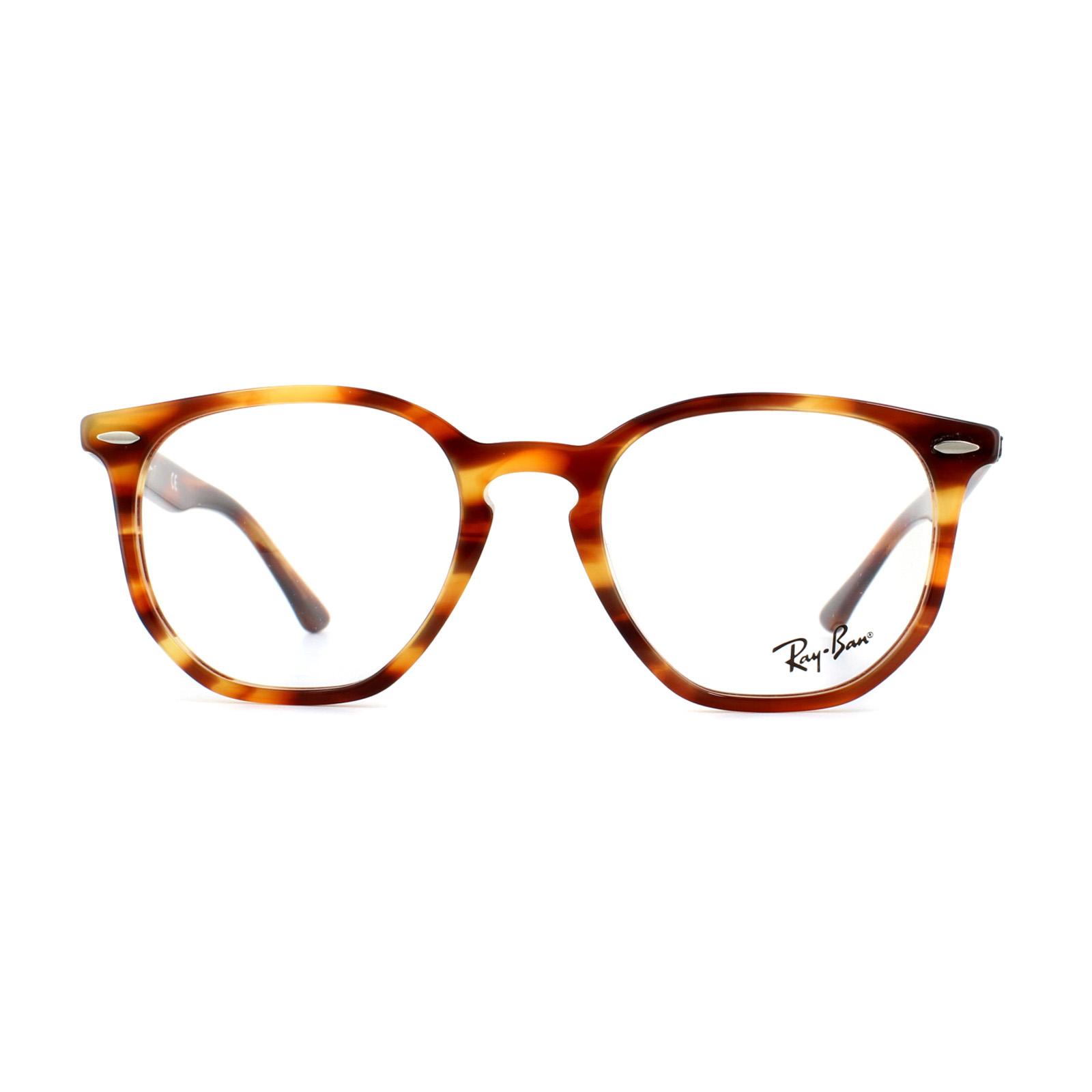 e72b43b4aa Sentinel Ray-Ban Glasses Frames 7151 Hexagonal 5797 Havana Red Brown 50mm