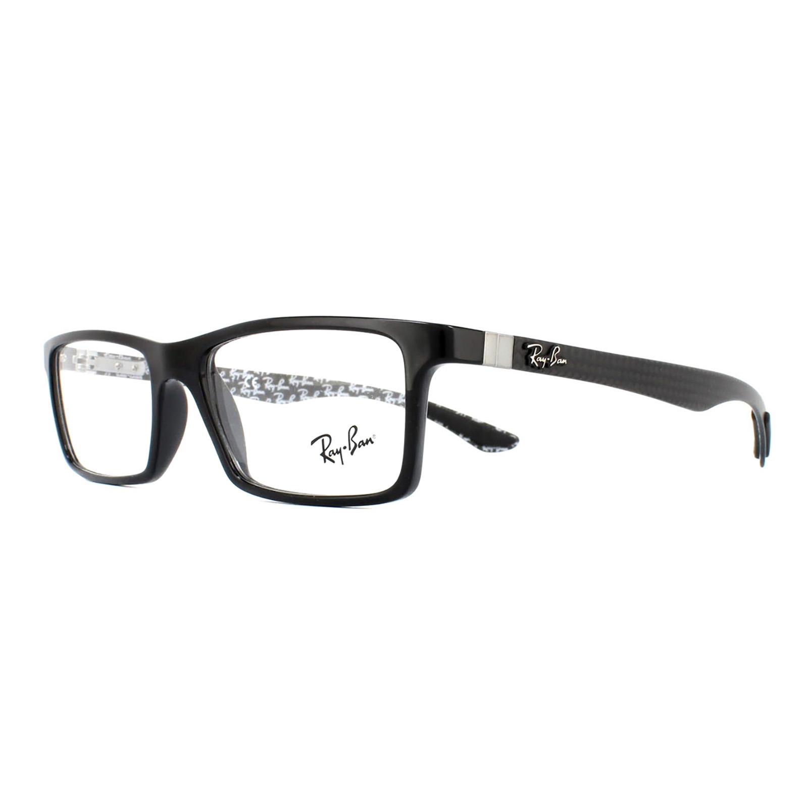 407266db46 Sentinel Ray-Ban Glasses Frames 8901 5610 Black On Shiny Grey 55mm