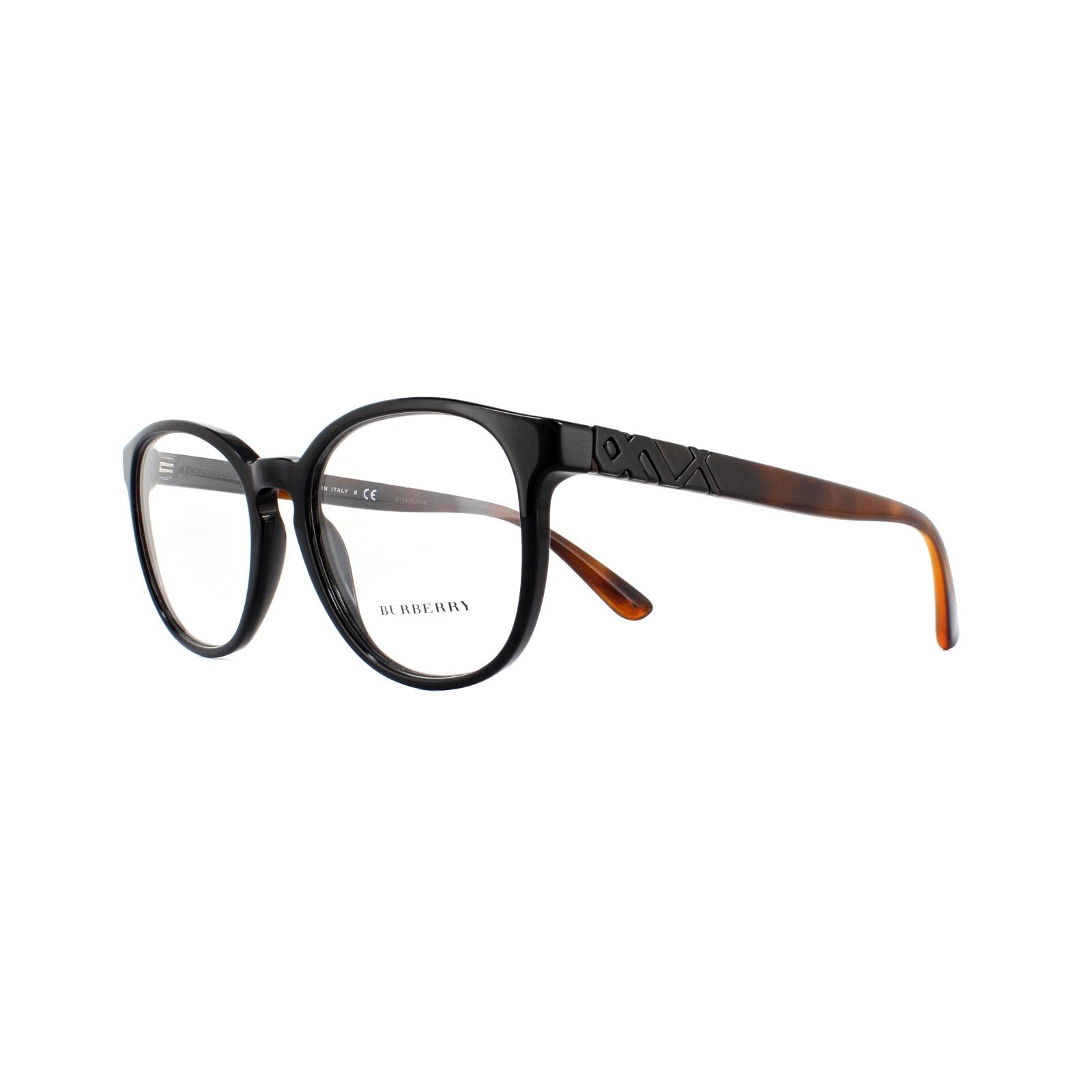 94fd8482d9e Sentinel Burberry Glasses Frames BE 2241 3001 Black 52mm Womens