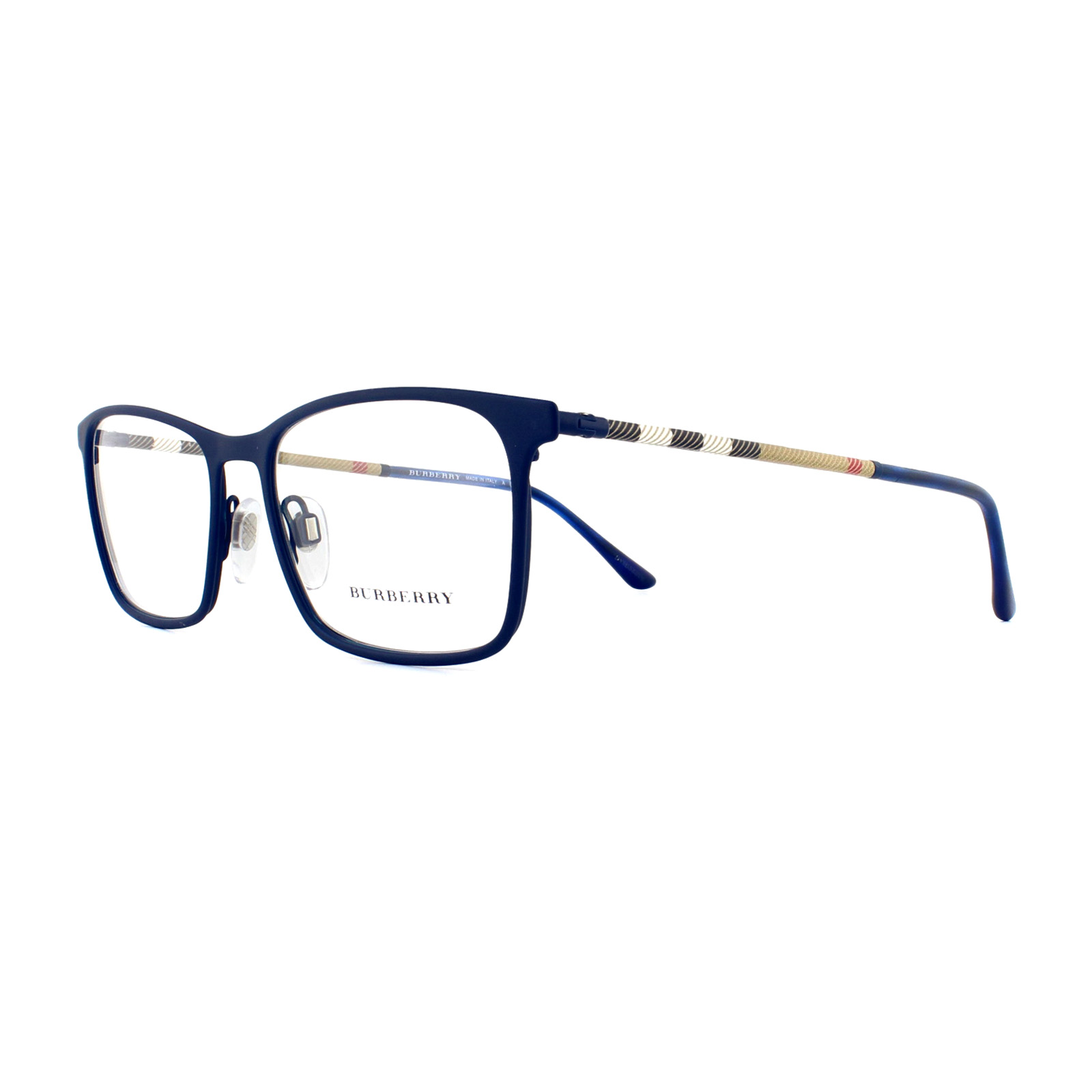 ec6c6bf7164d Sentinel Burberry Glasses Frames BE 1309Q 1224 Blue Rubber 54mm Mens