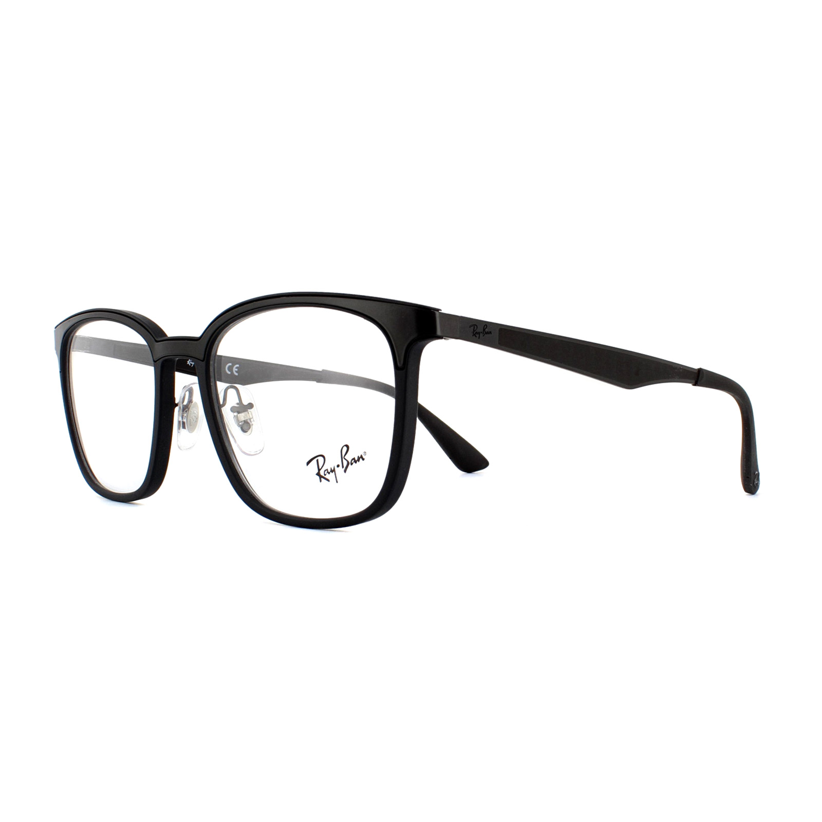 a0b4ffe4ea Ray-Ban Glasses Frames 7117 5196 Black 52mm Mens 8053672728293