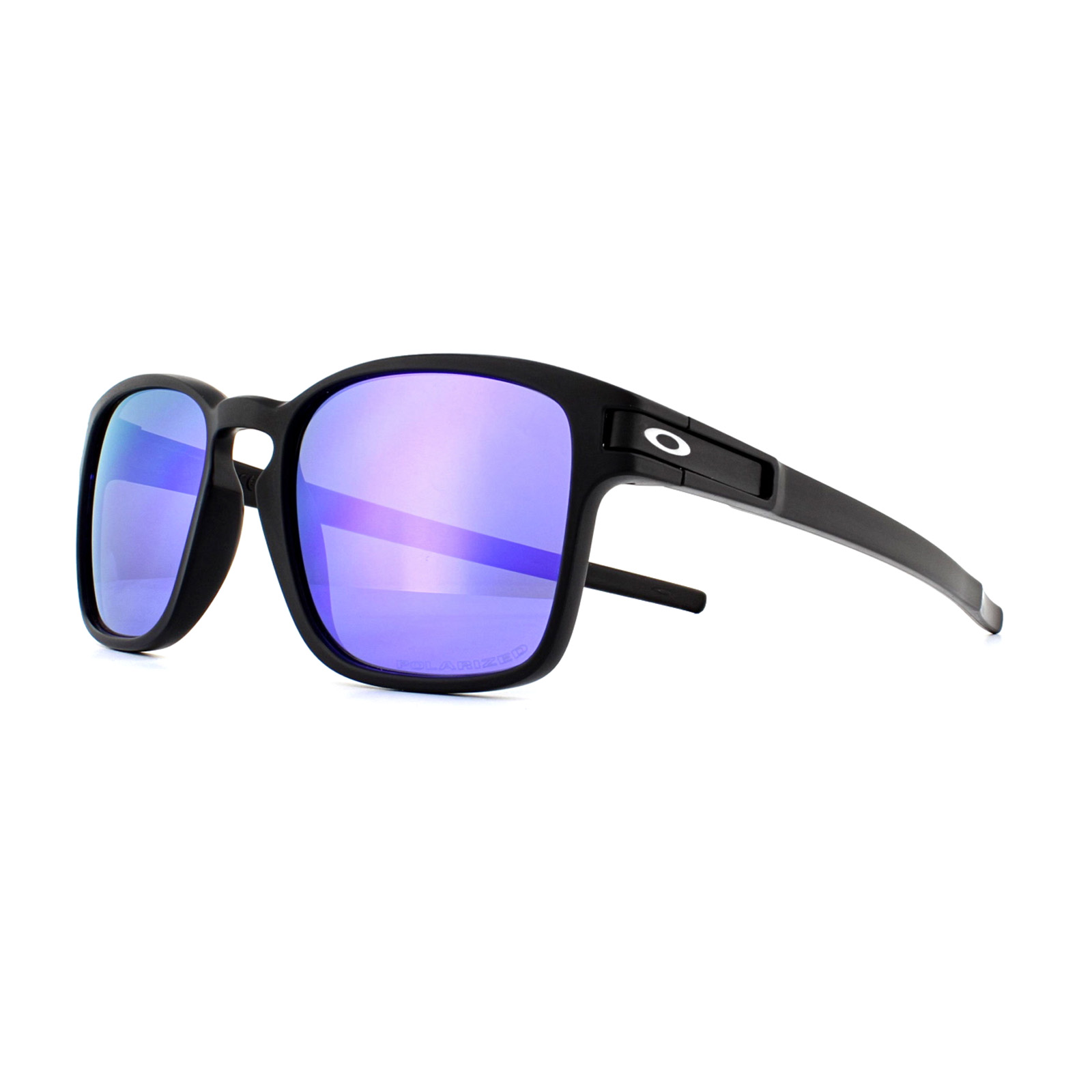 f9a714df81 Sentinel Oakley Sunglasses Latch Square OO9353-04 Black Violet Iridium  Polarized