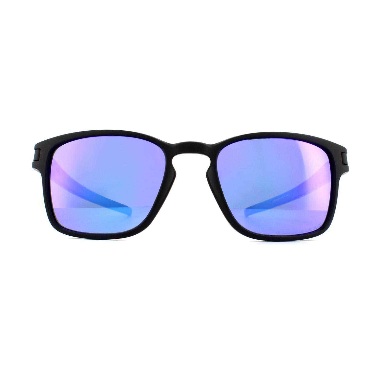 5fd0e5d545 Sentinel Oakley Sunglasses Latch Square OO9353-04 Black Violet Iridium  Polarized