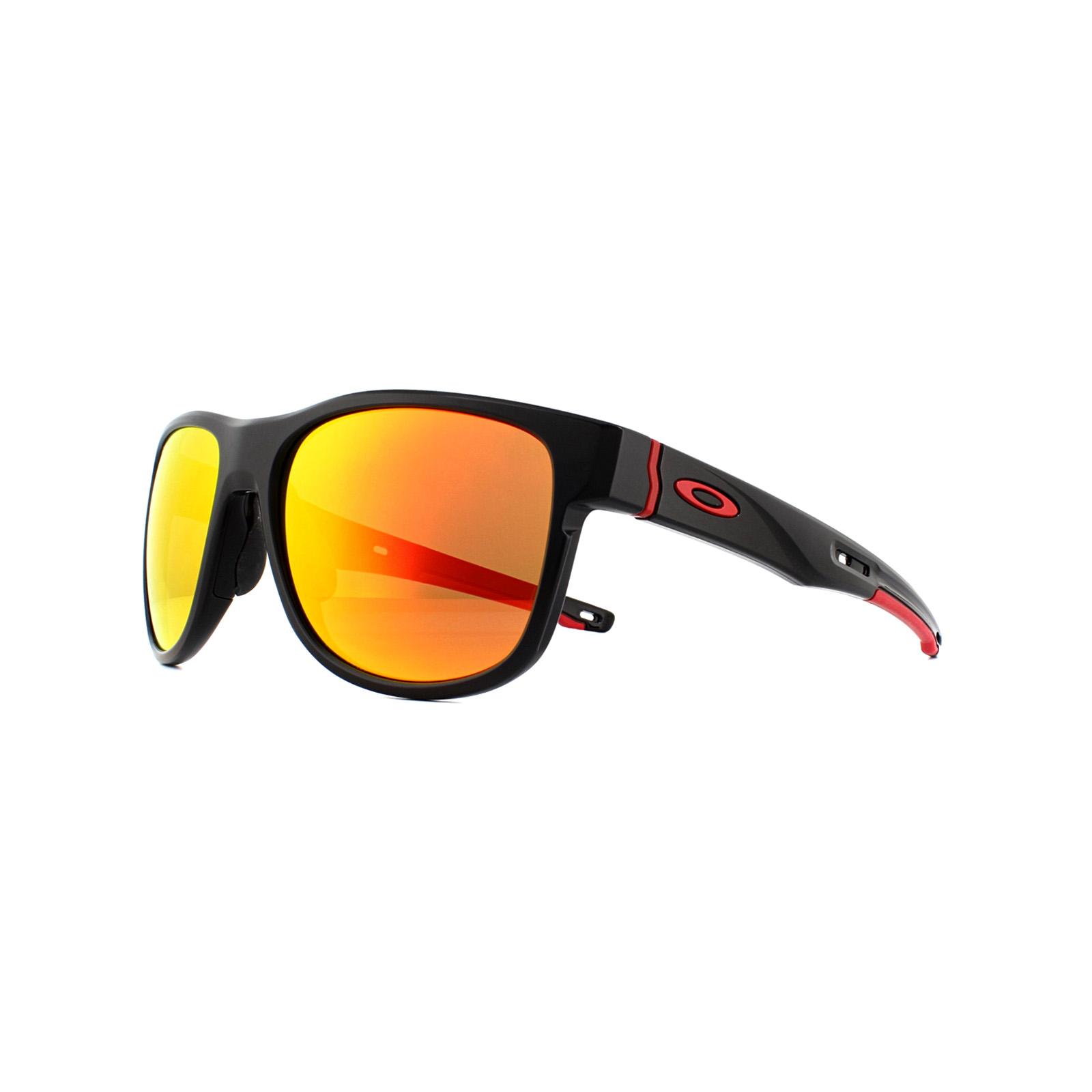 4ea1cc1c6a Sentinel Oakley Sunglasses Crossrange R OO9359-04 Matte Black Prizm Ruby