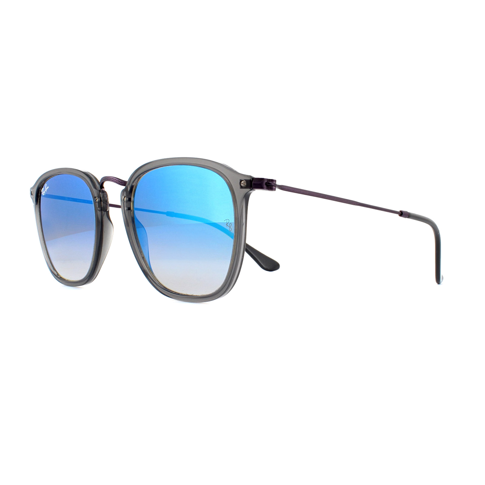 4389f243a3 Sentinel Ray-Ban Sunglasses 2448N 62554O Transparent Grey Blue Flash  Gradient