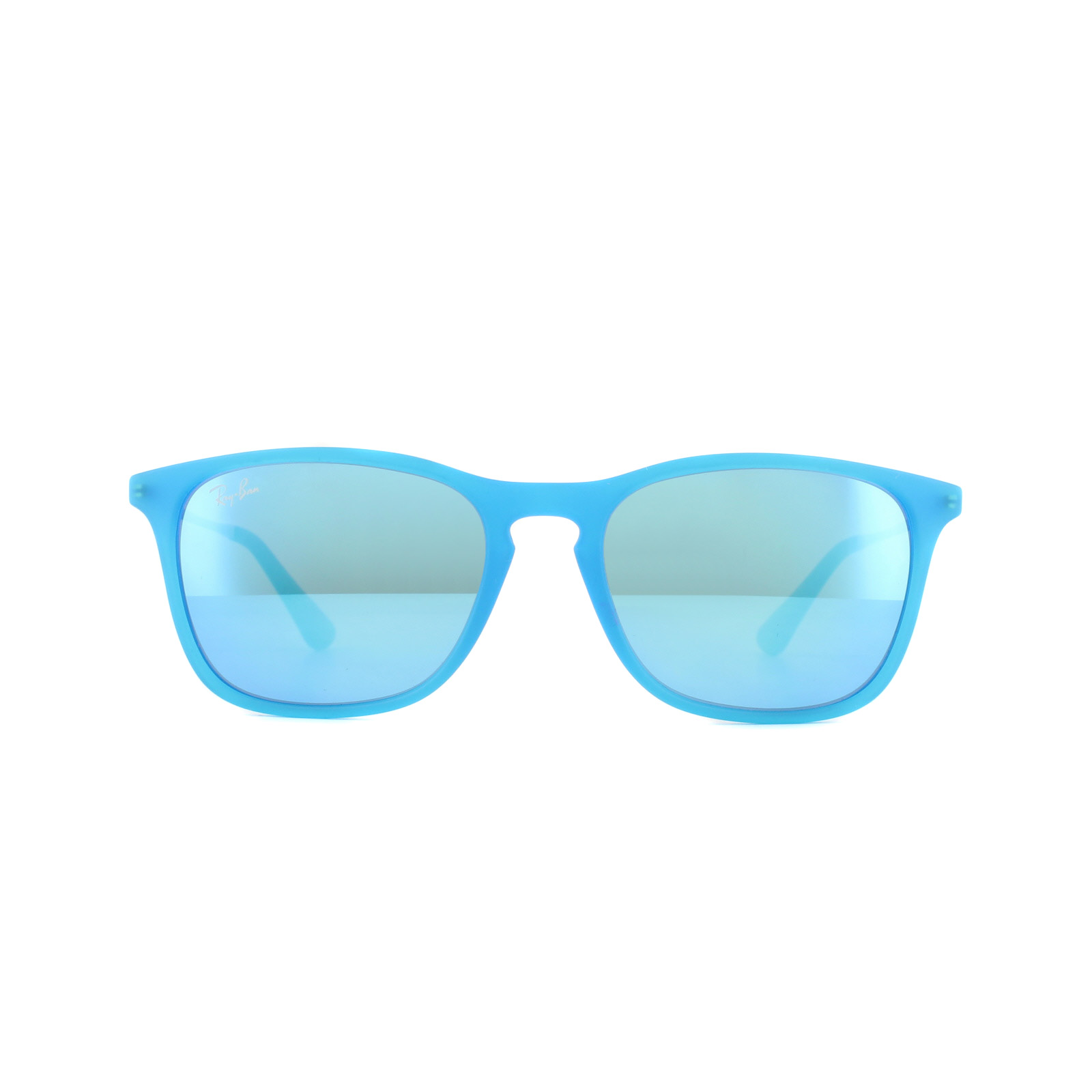 b2dbee40c6a62 Sentinel Ray-Ban Junior Sunglasses Chris 9061 701155 Azure Transparent  Rubber Blue Mirror